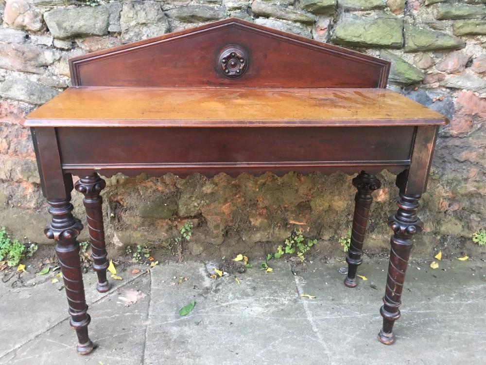 c19th hall table in mahogany