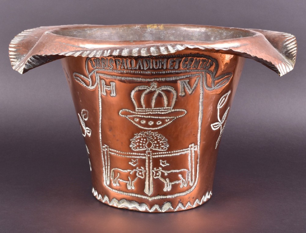 early c20th jardinaire in copper