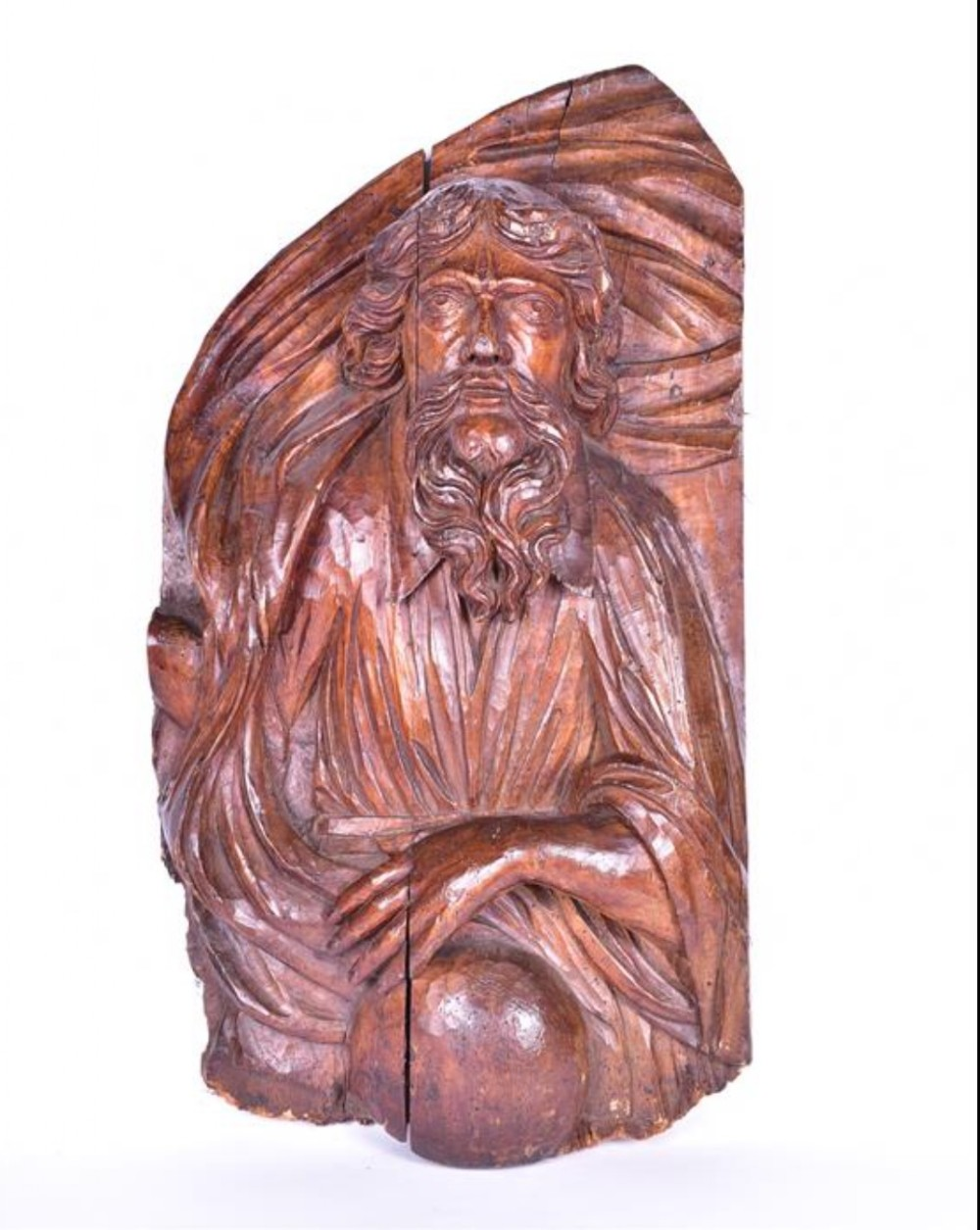 a large c17th limewood carving