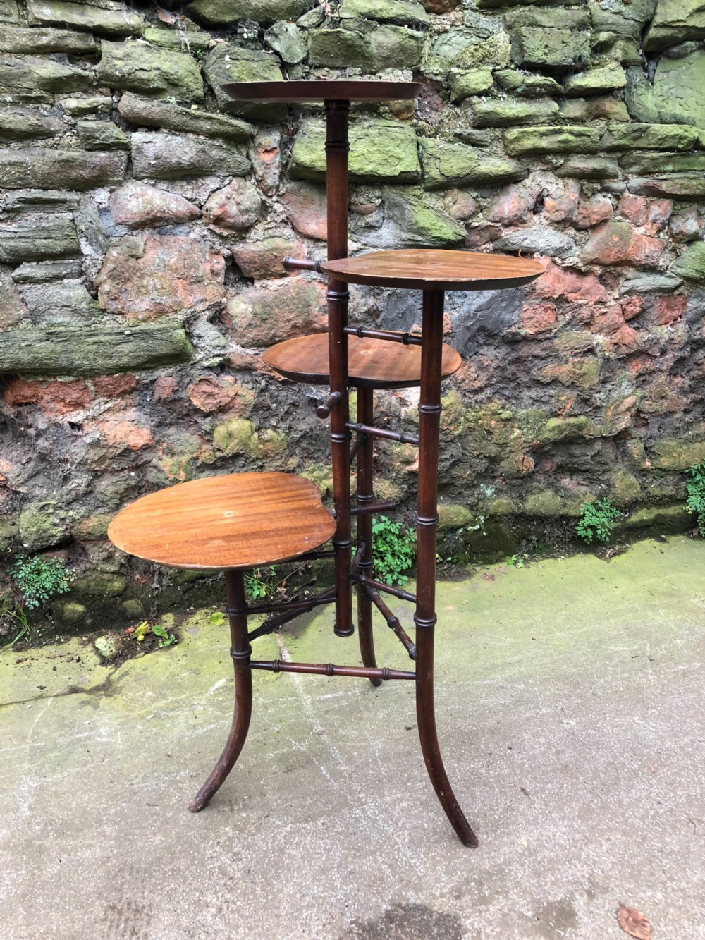 c19th faux bamboo milliners shop display stand