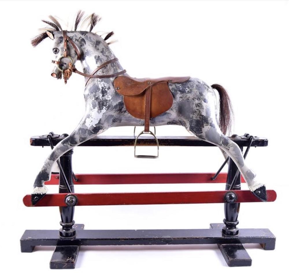 an edwardian rocking horse