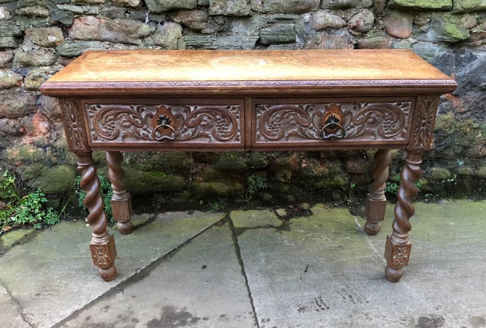 c19th oak hall table