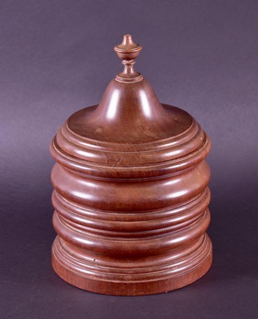 a large turned tobacco jar