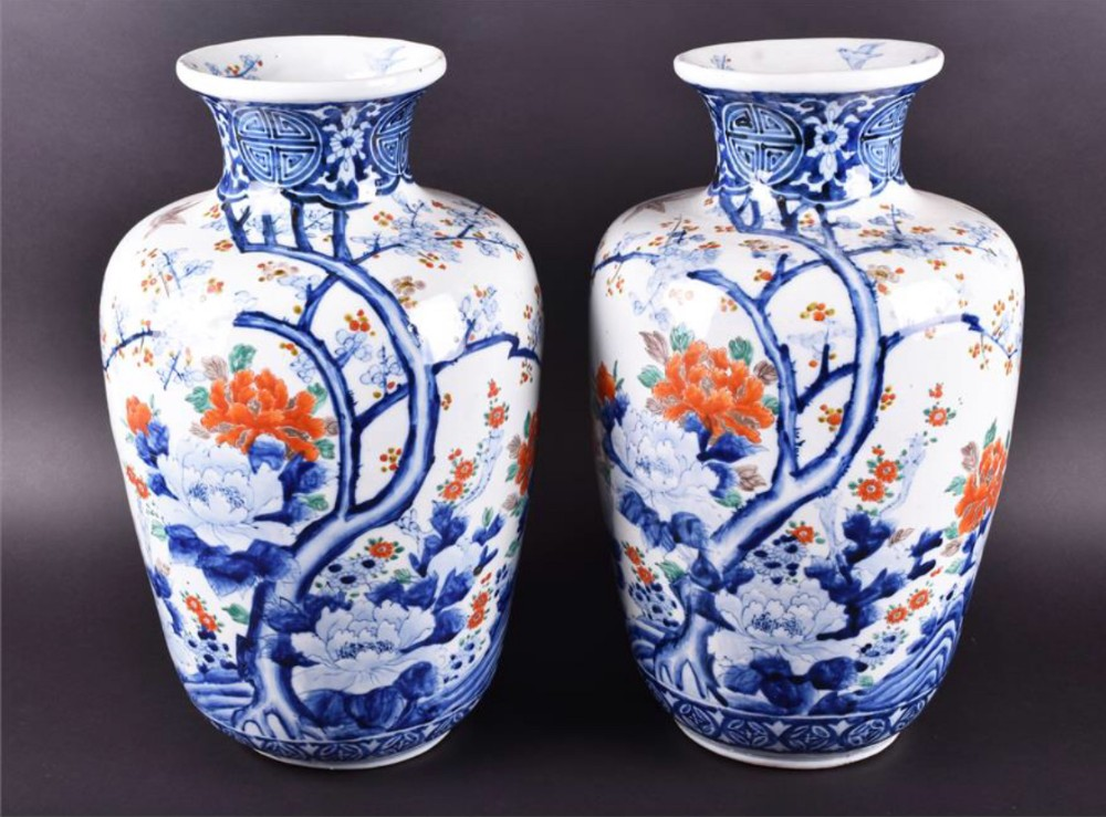 Large Pair Of Japanese Vases 519593 Sellingantiques