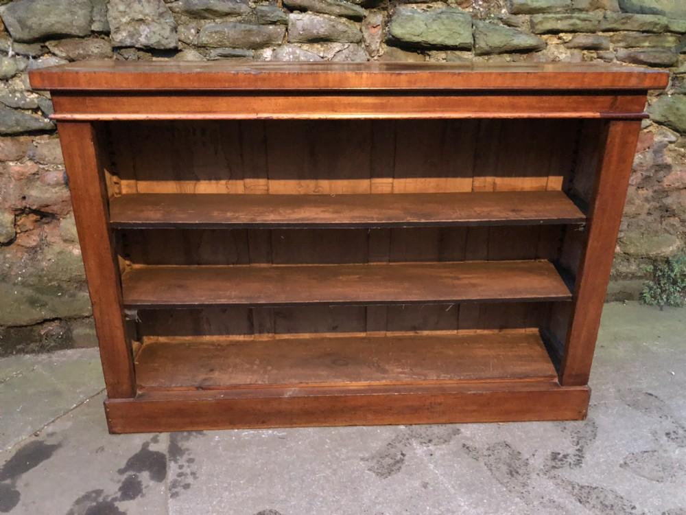 c19th walnut low victorian bookcase