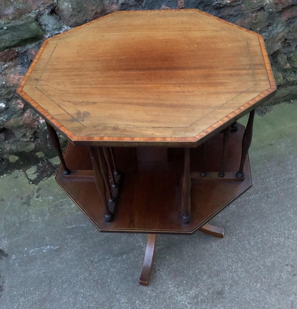 edwardian mahogany revolving book table