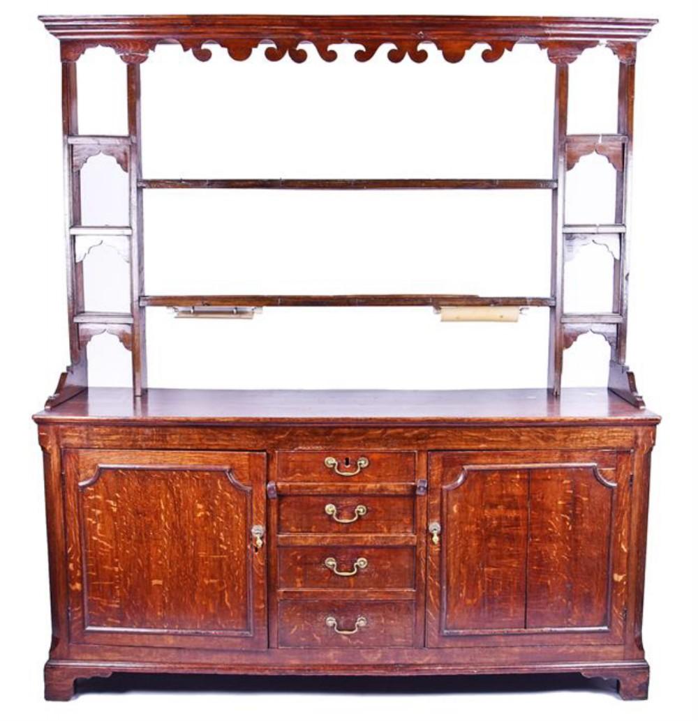 c18th oak dresser unrestored condition
