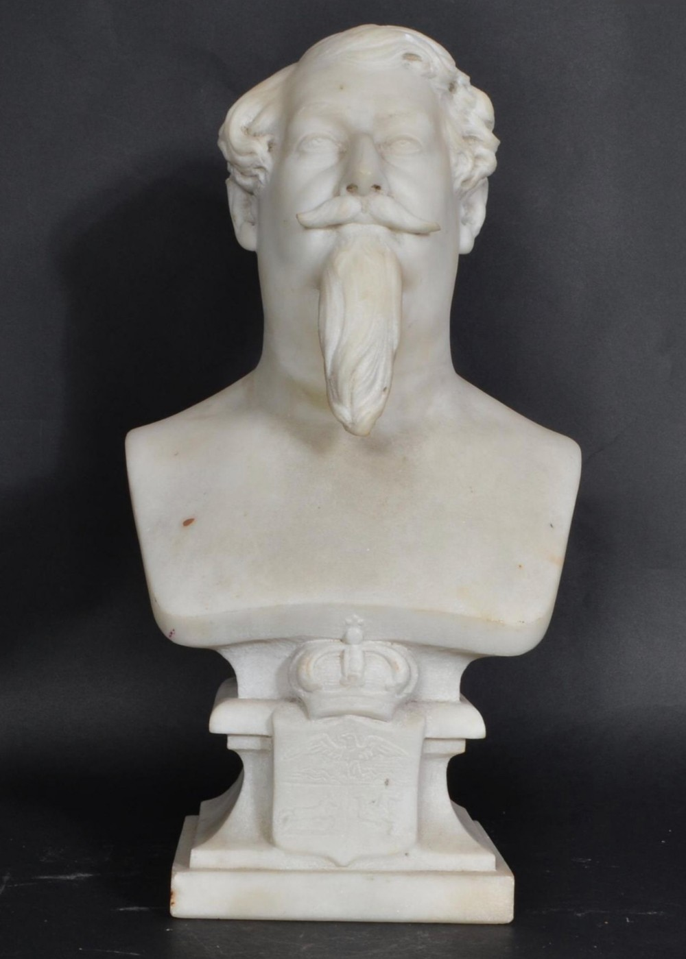 c19th marble bust of the lieutenant governor of the isle of man by cotte 1861