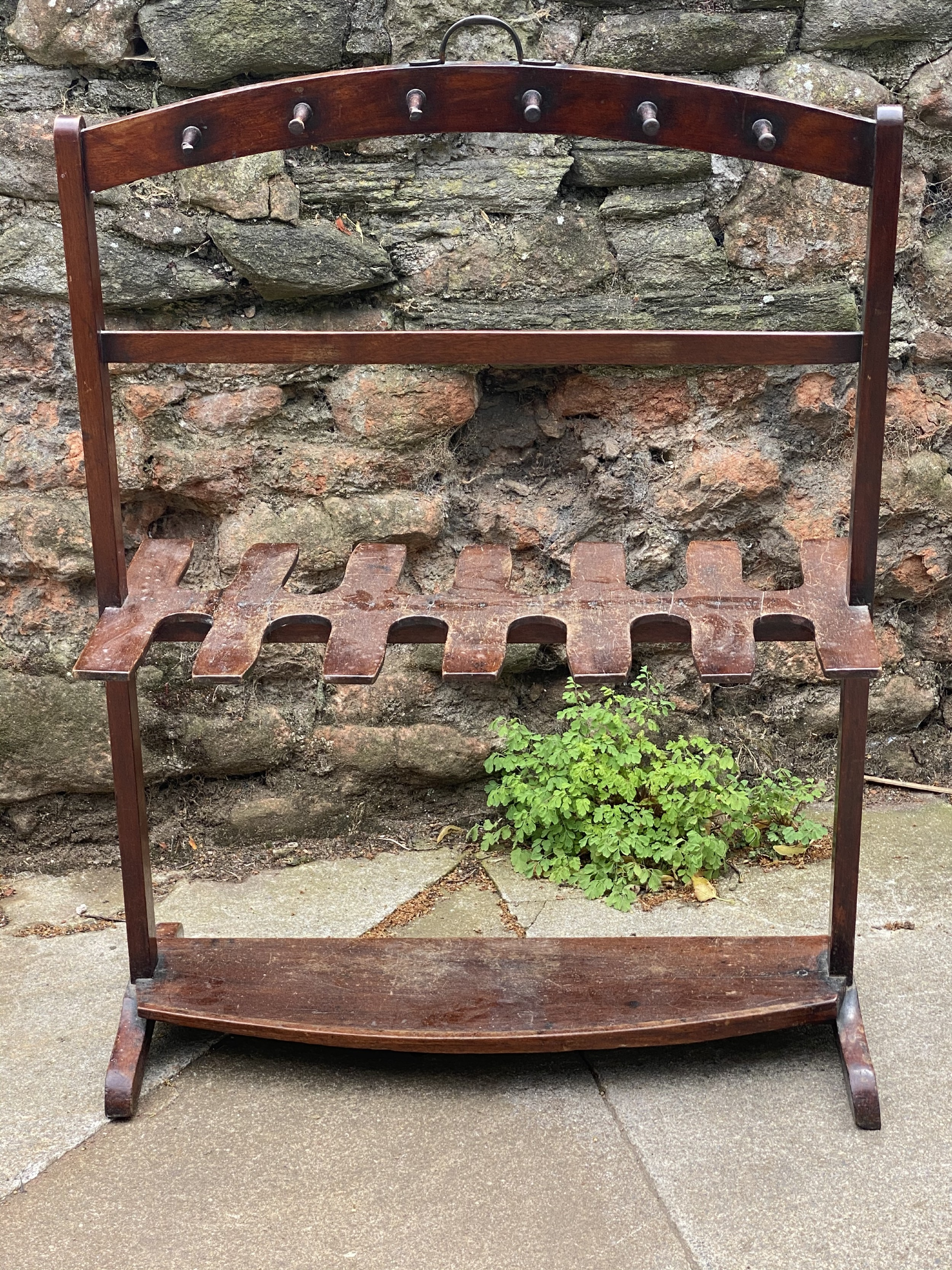 c19th country house whip and boot rack smaller size