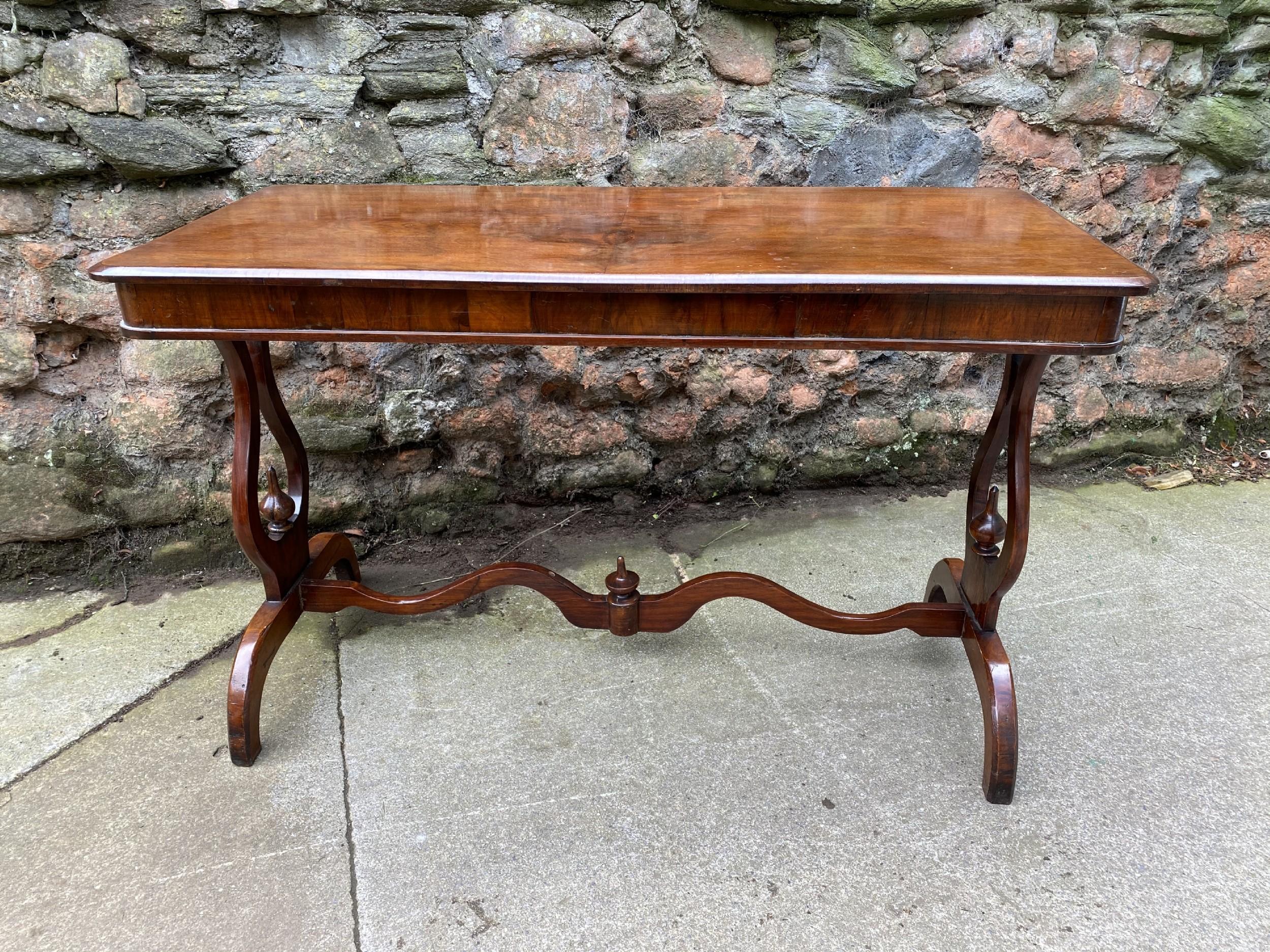 c19th walnut side table