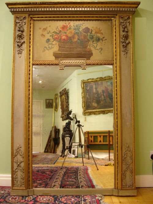 exquisite 19th century trumeau french mirror
