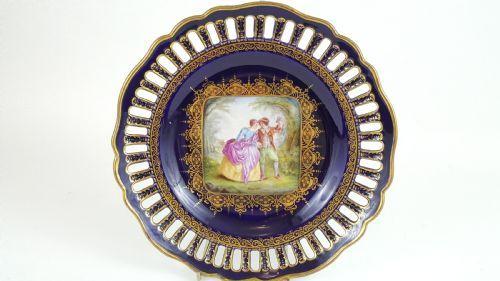 19th century vienna hand panted plate
