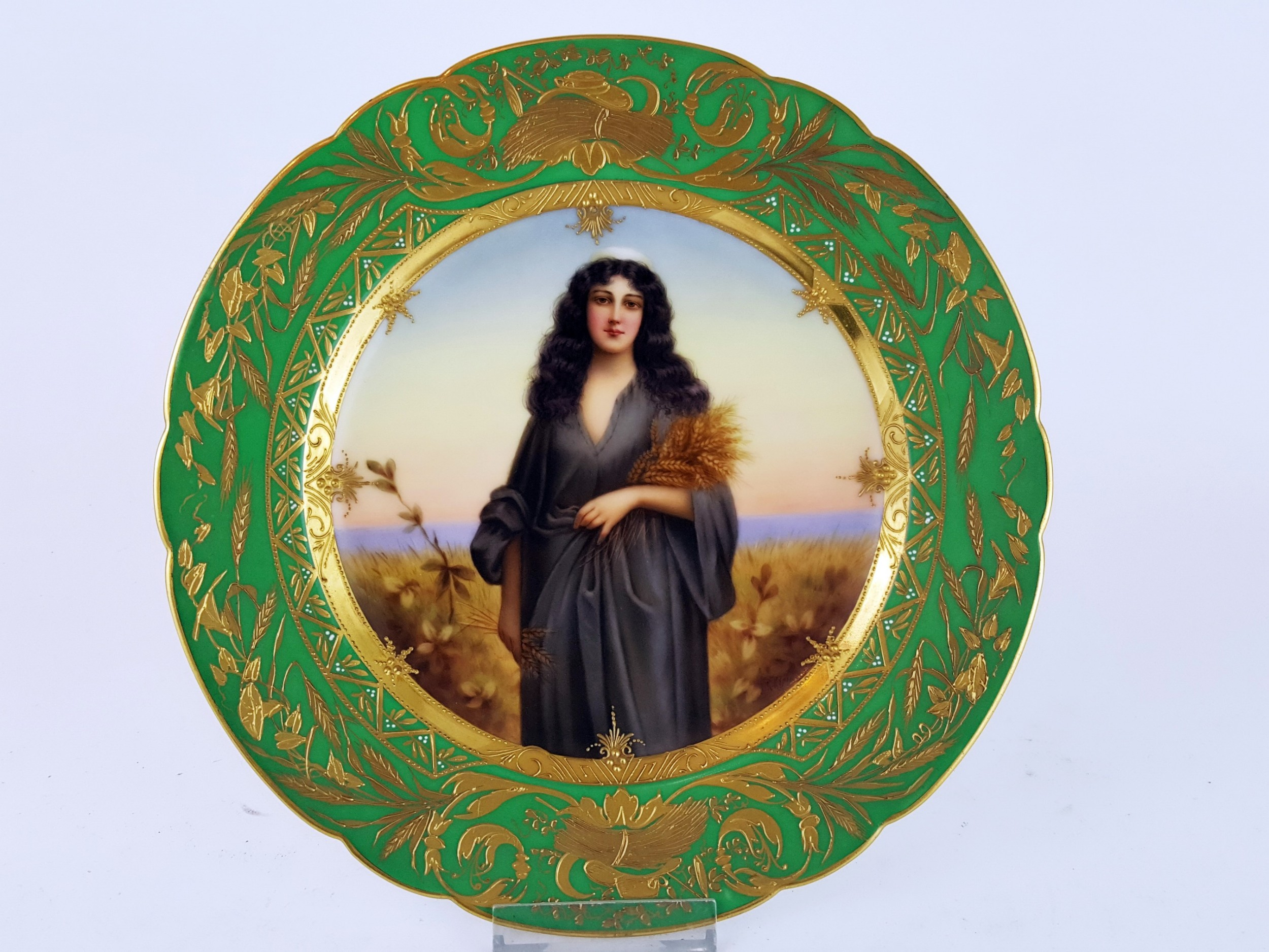 19th century vienna cabinet plate of ruth