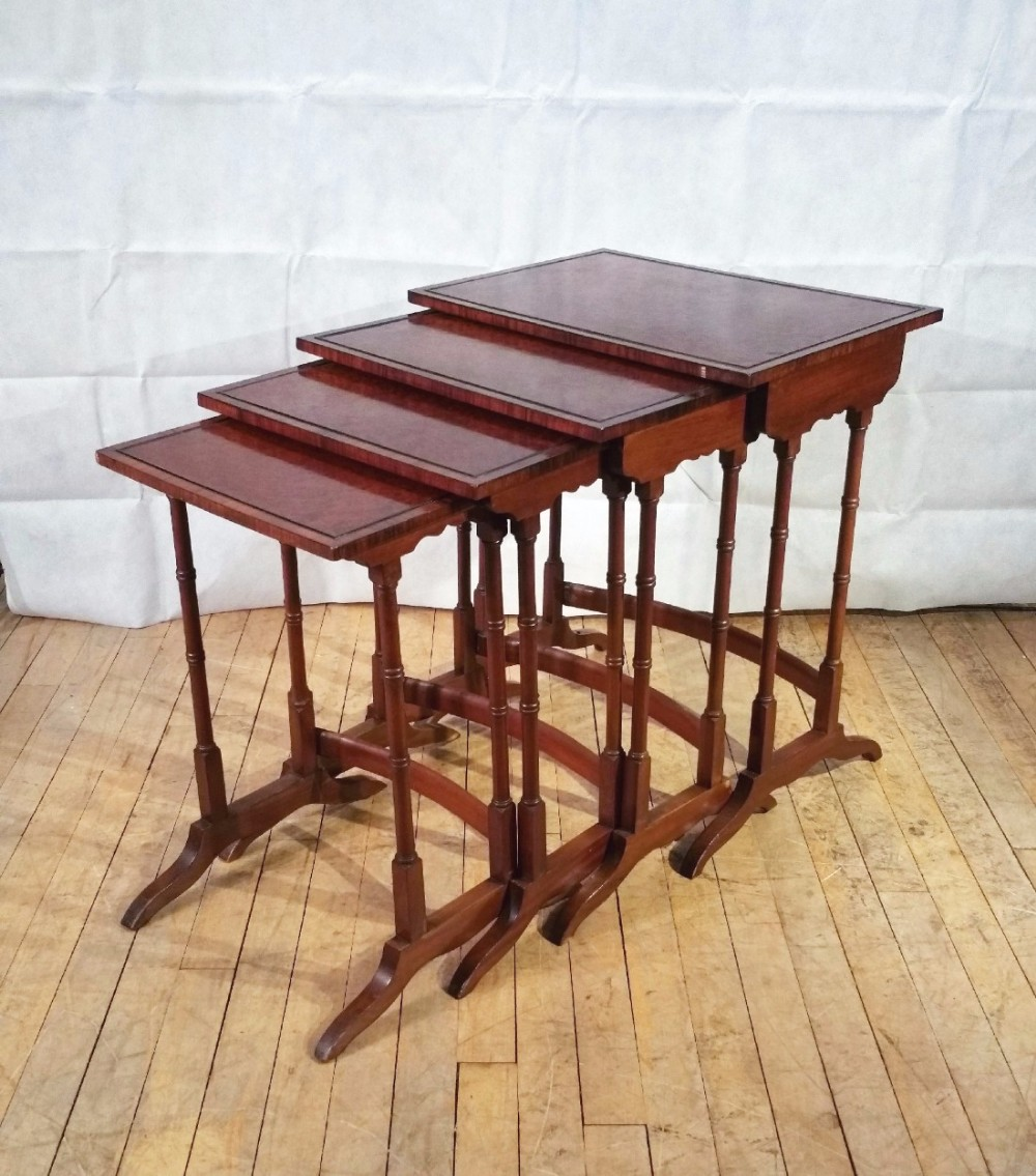 quartetto of amboyna nesting tables