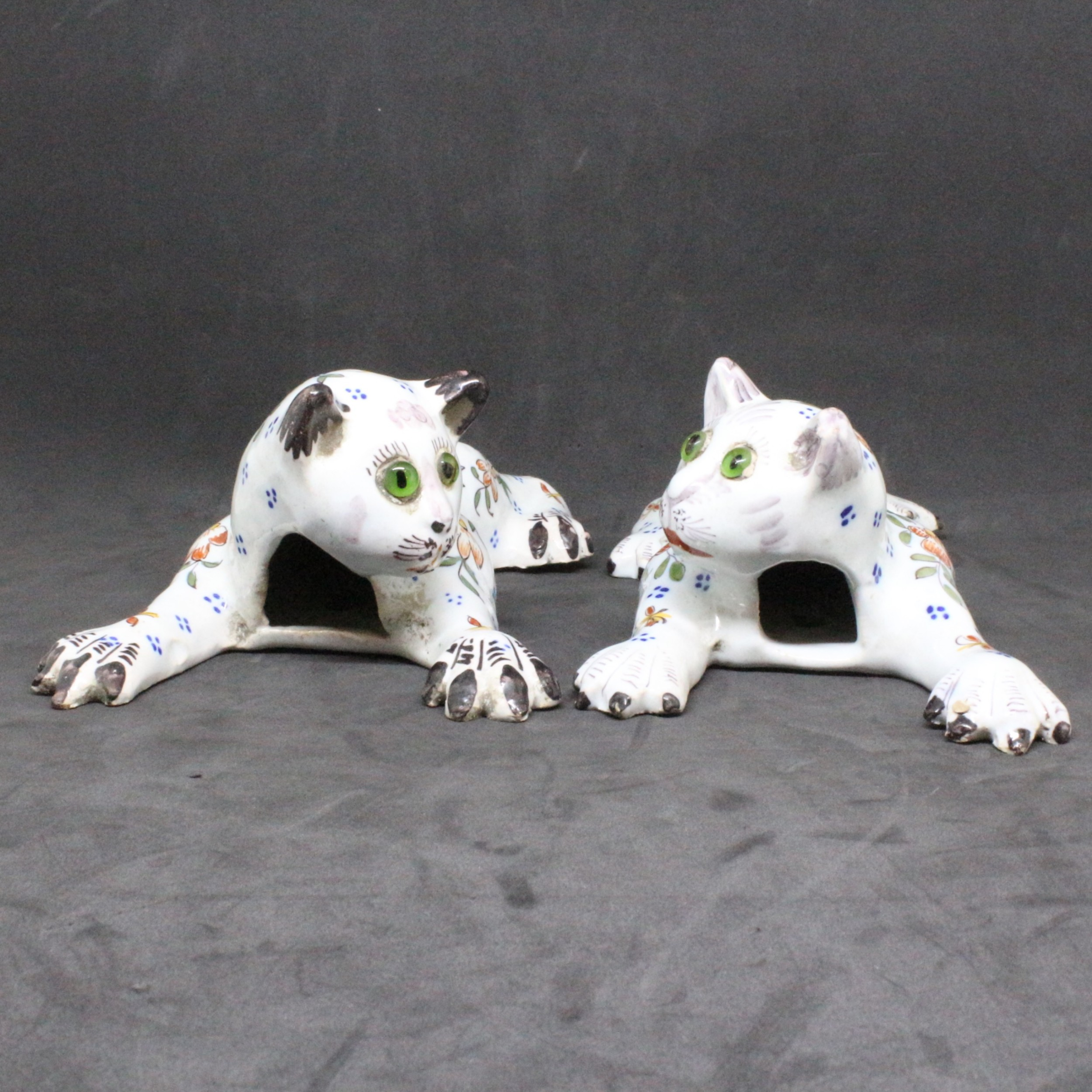 french cat wall sconce pair