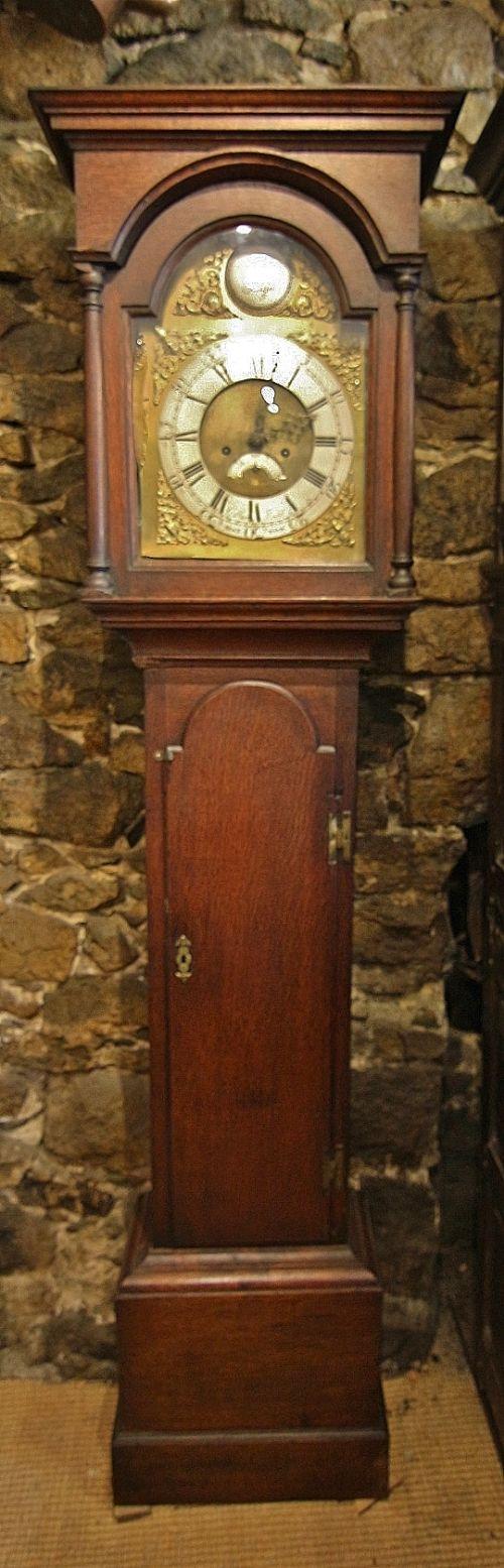 18th century oak 8 day longcase clock ' gilbert kidd molton'