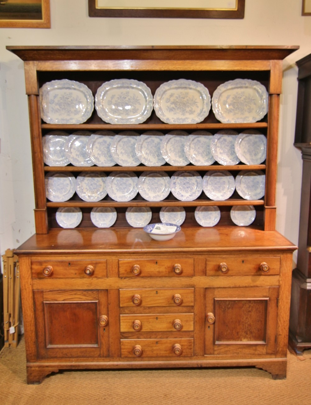 19th century welsh oak mahogany dresser