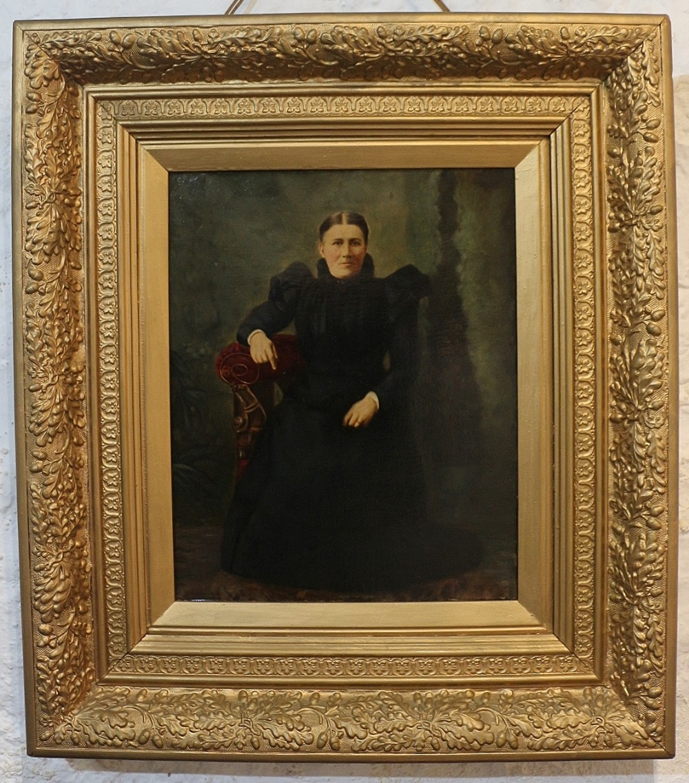 19th century welsh oil portrait of a lady