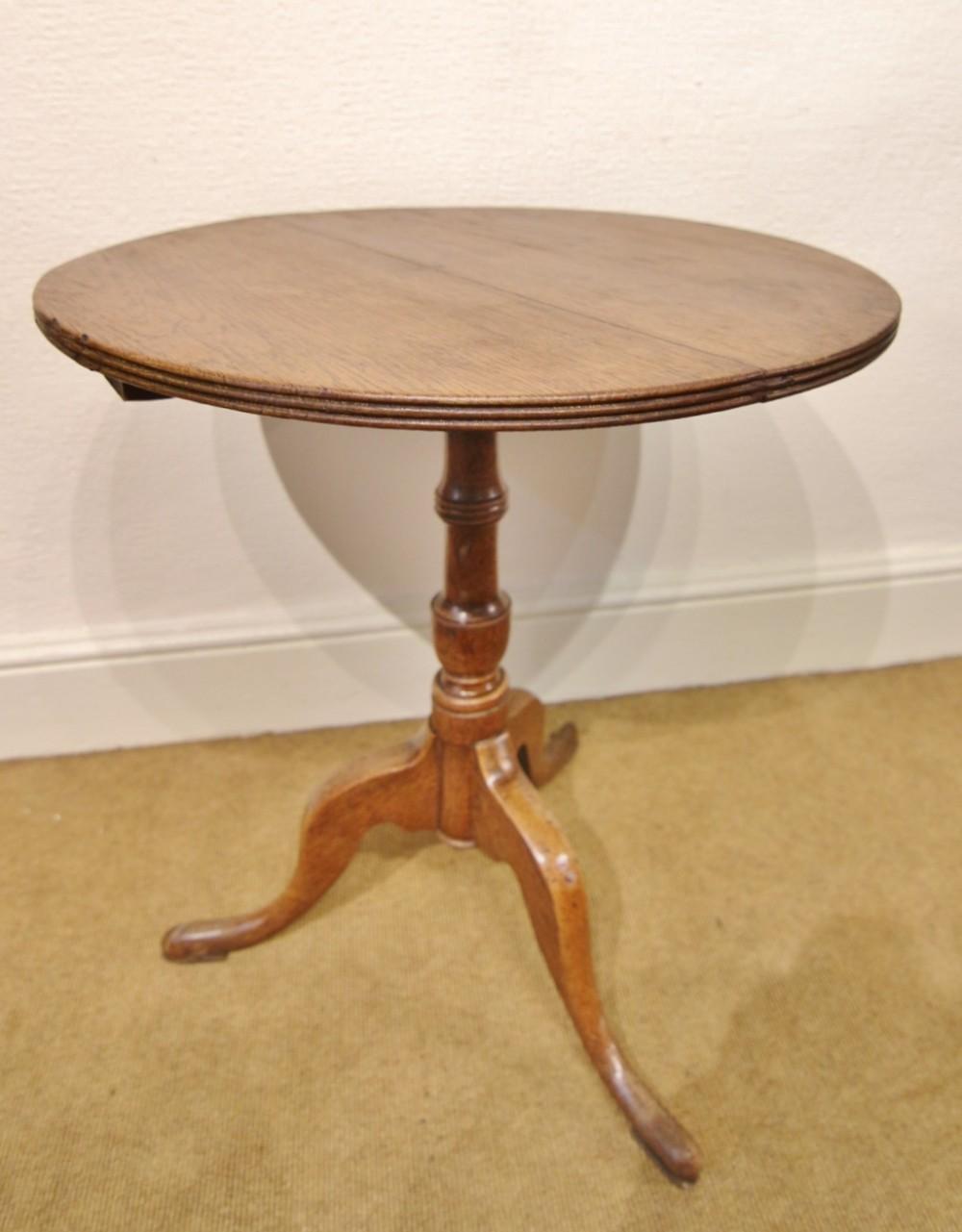 small late georgian oak wine table