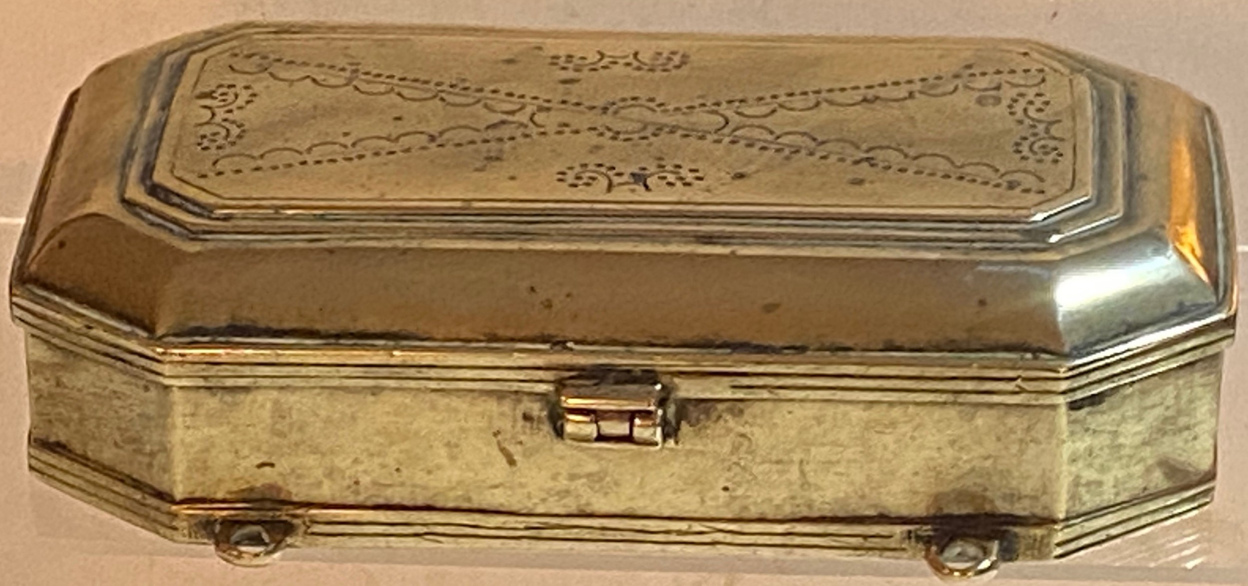 18th century brass tinder box