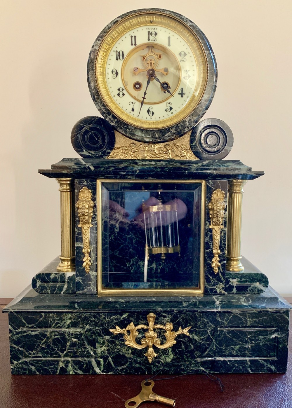 victorian marble 8 day clock