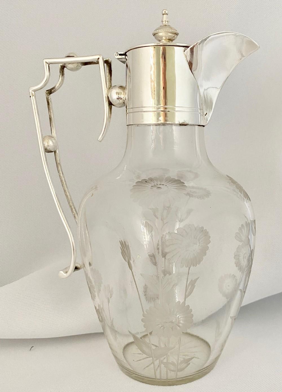 edwardian silver plated claret jug c1910