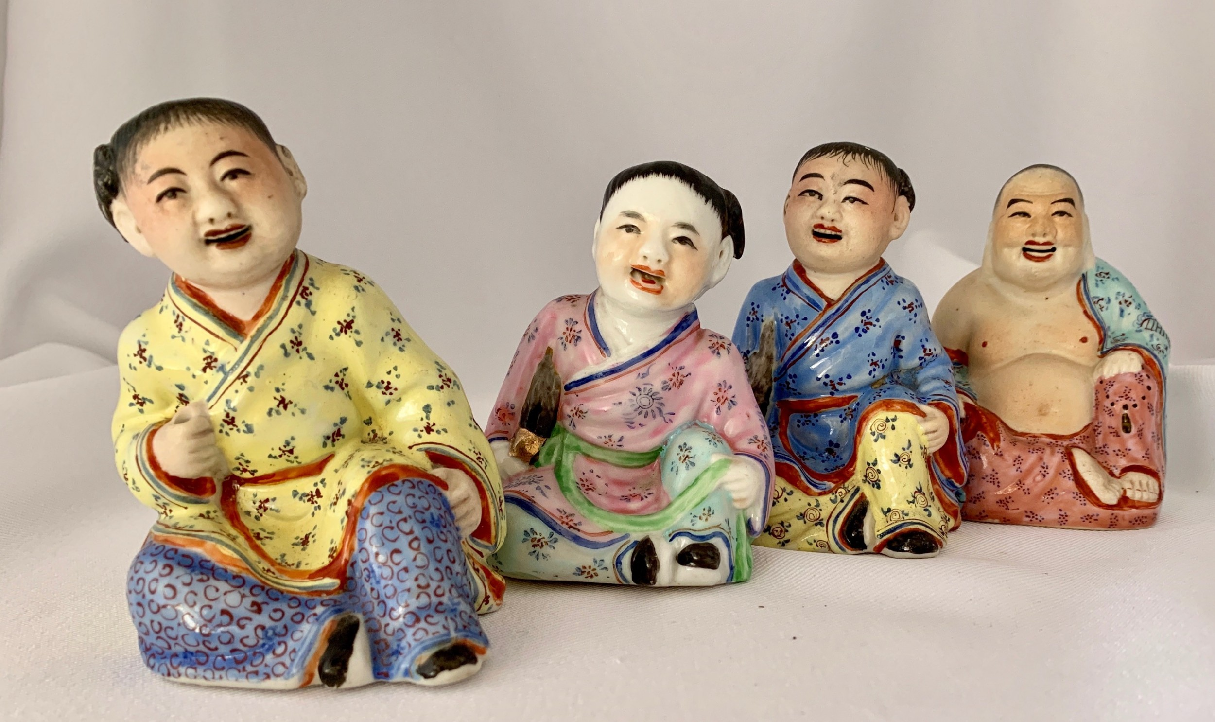 group of early 20th cent chinese figures