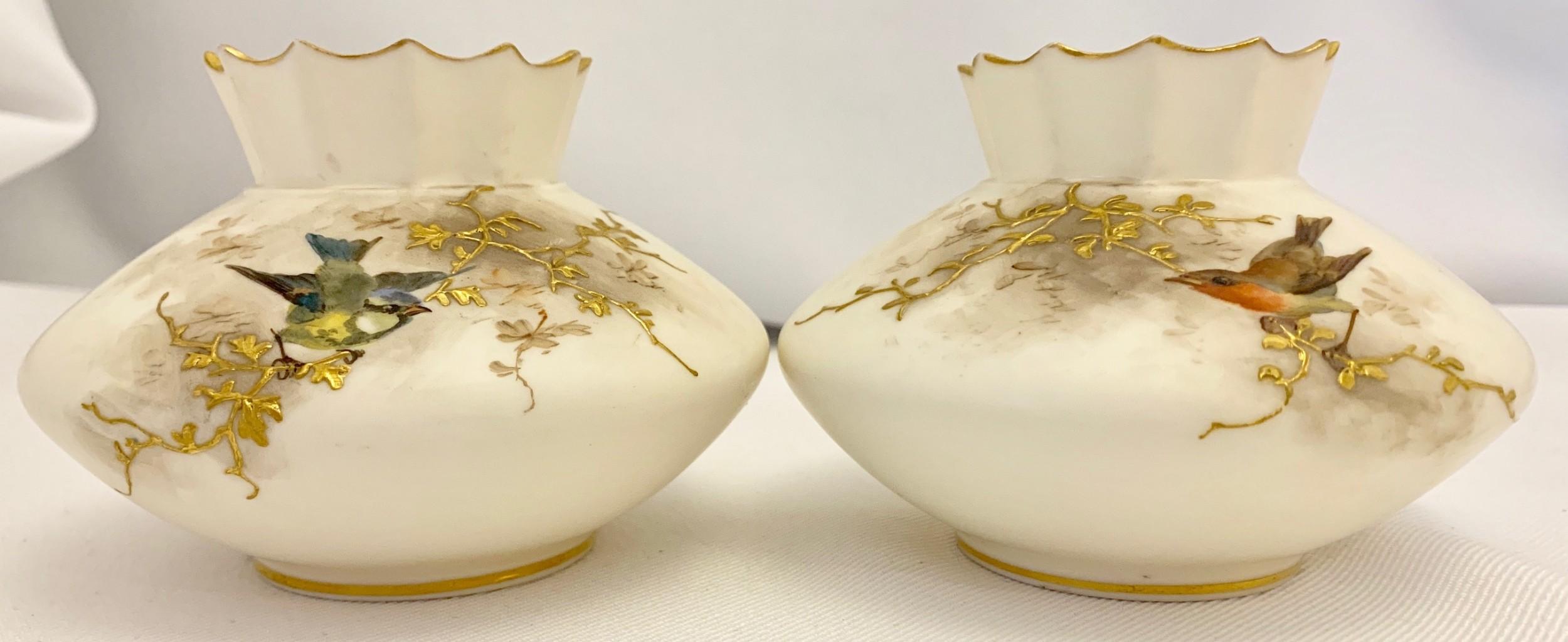 pair grainger worcester vases