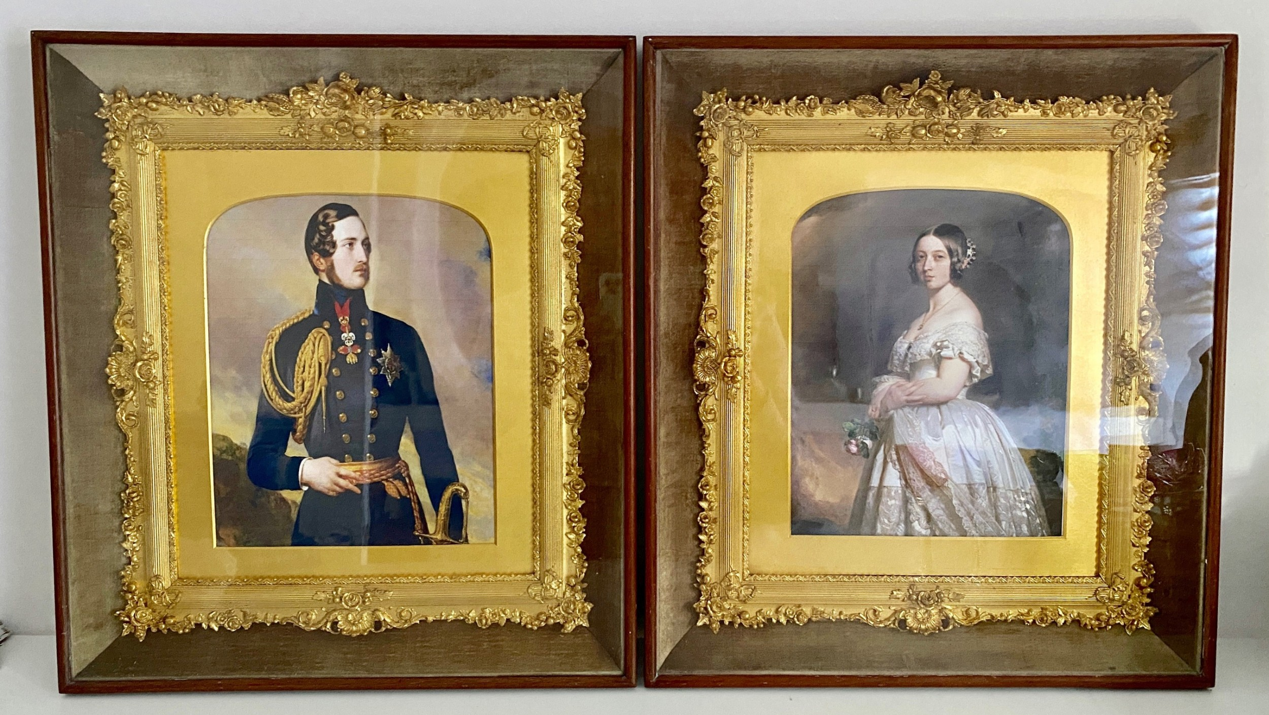 very decorative pair of victorian frames c1880
