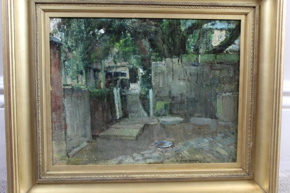 john henry inskip the way through the backyard oil painting on canvas