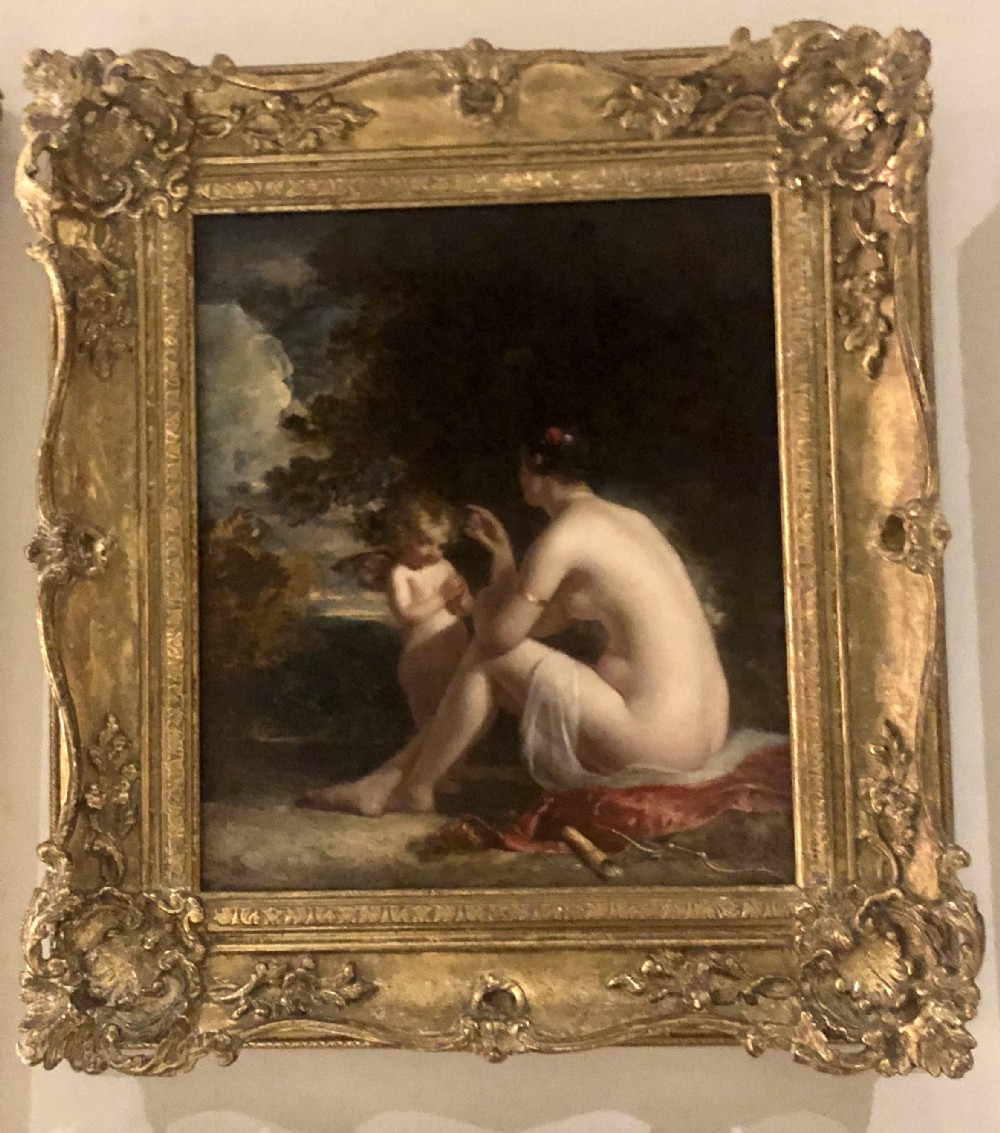 oil painting on board venus and cupid by charles baxter