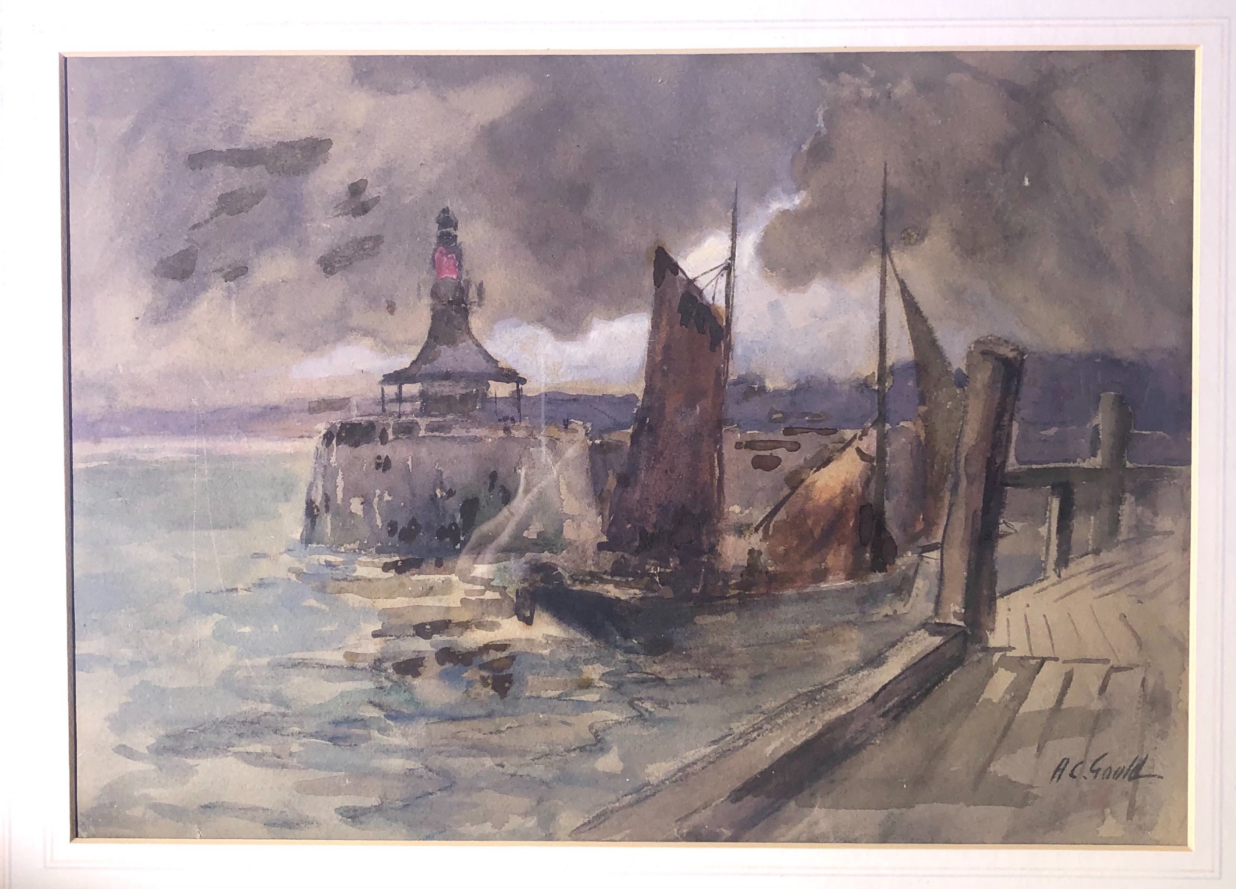 alexander carruthers gould 18701948 watercolour painting signed