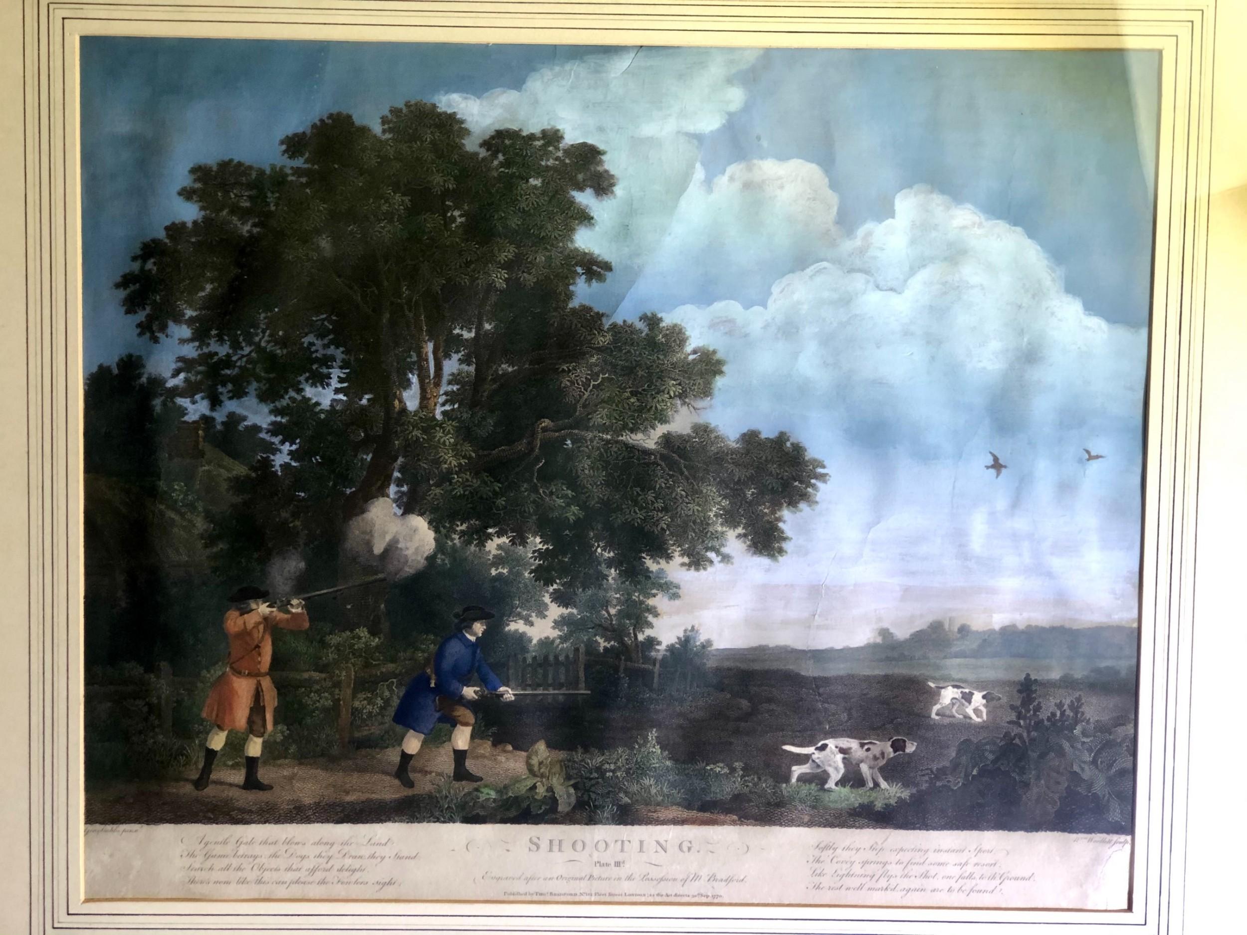 hand coloured shooting engravings george stubbs 1769