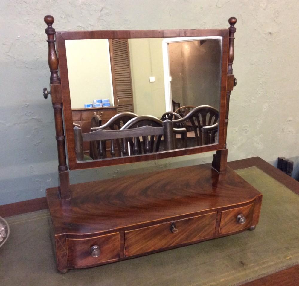 Regency style dressing table mirror