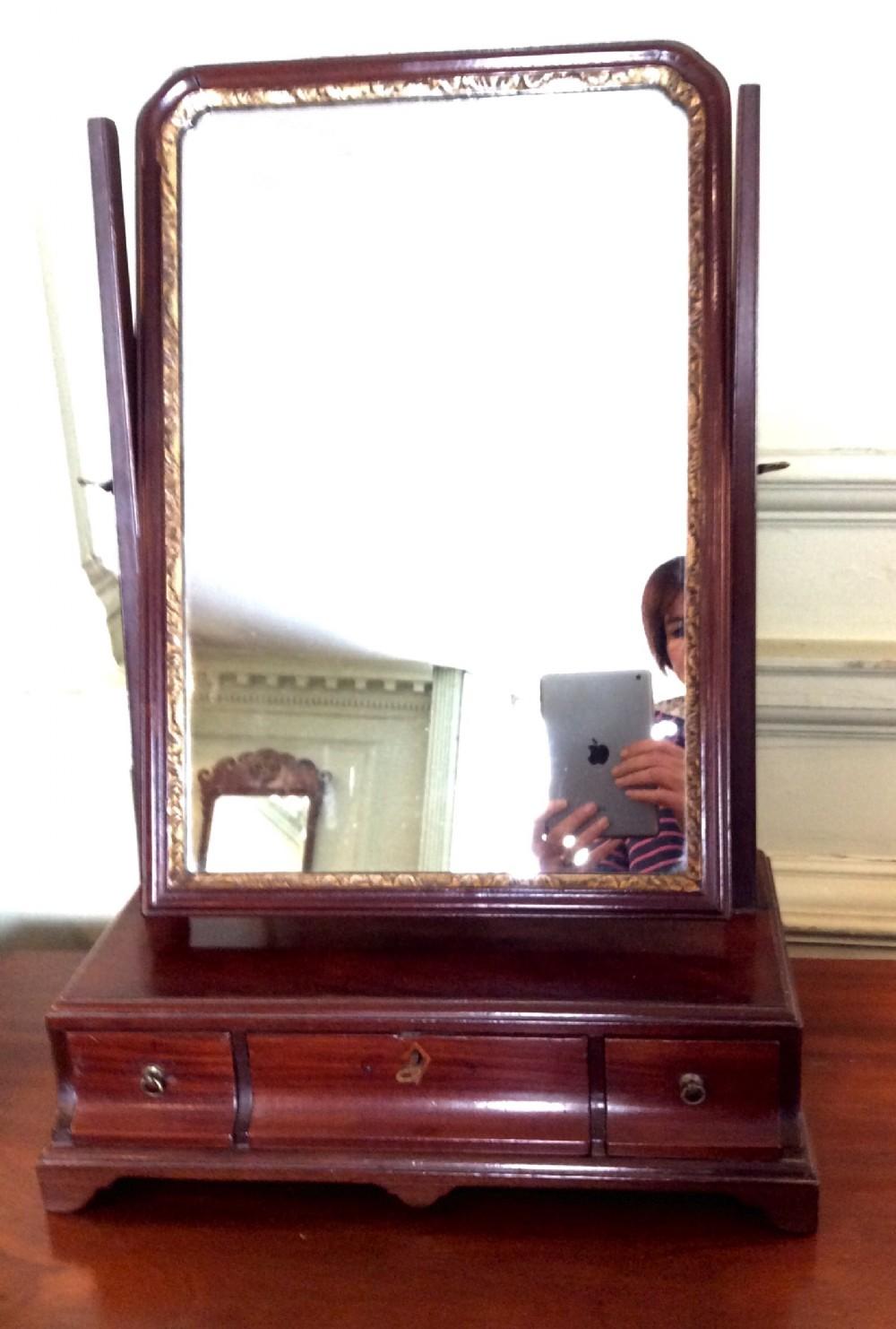 georgian mahogany toilet or dressing table mirror