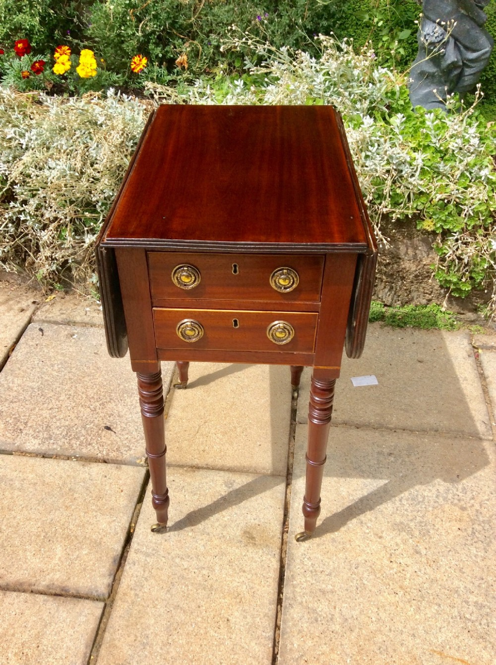 small regency pembroke work or lamp table