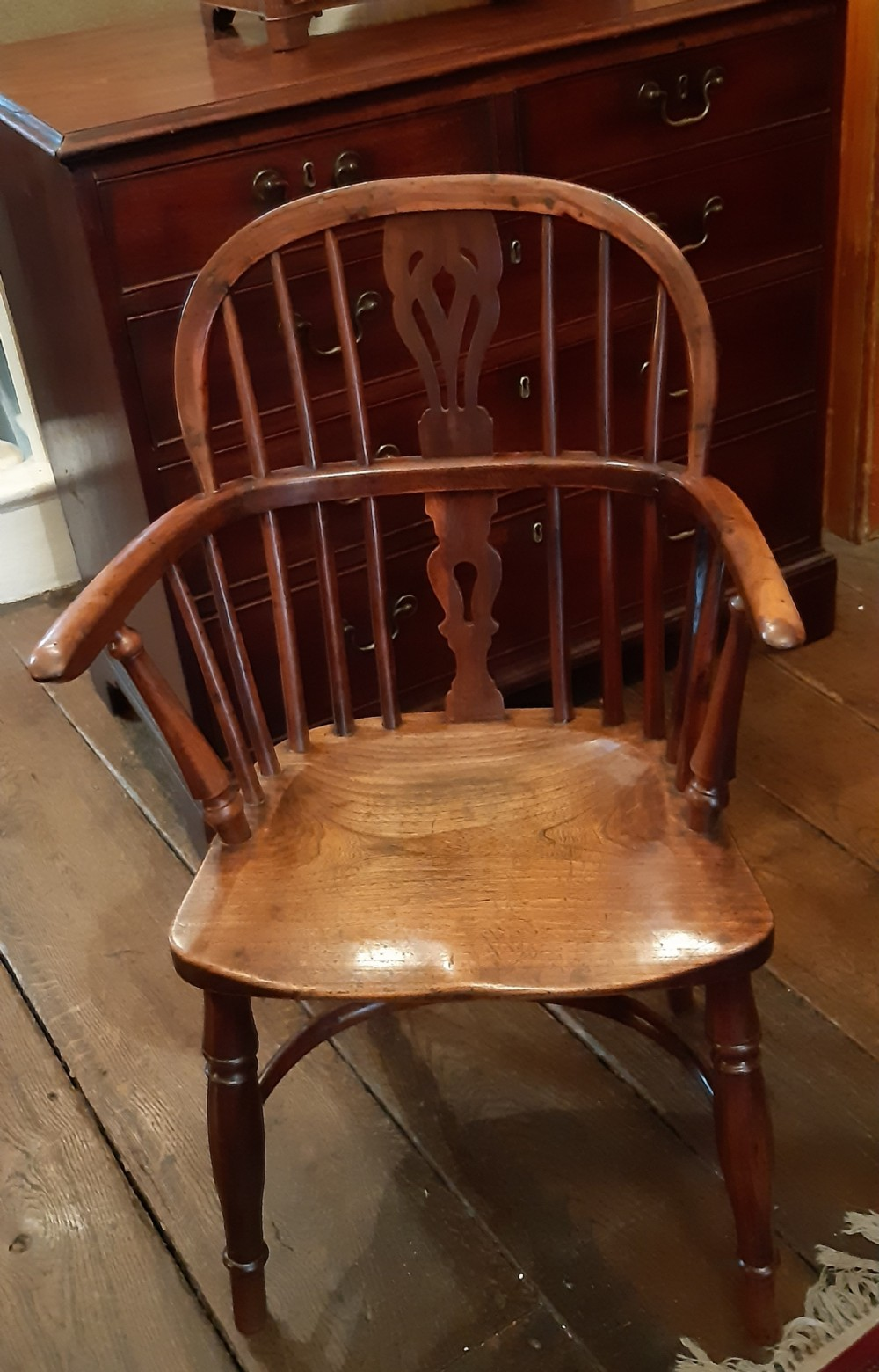 yew wood child's chair