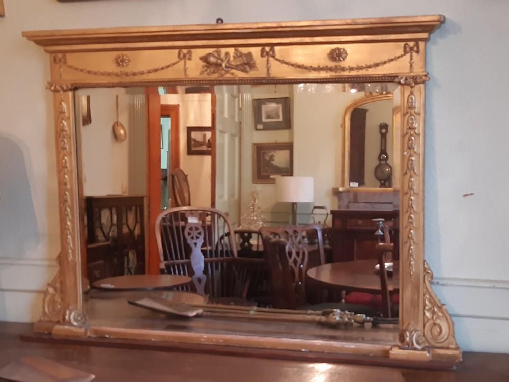 regency gilt overmantel mirror