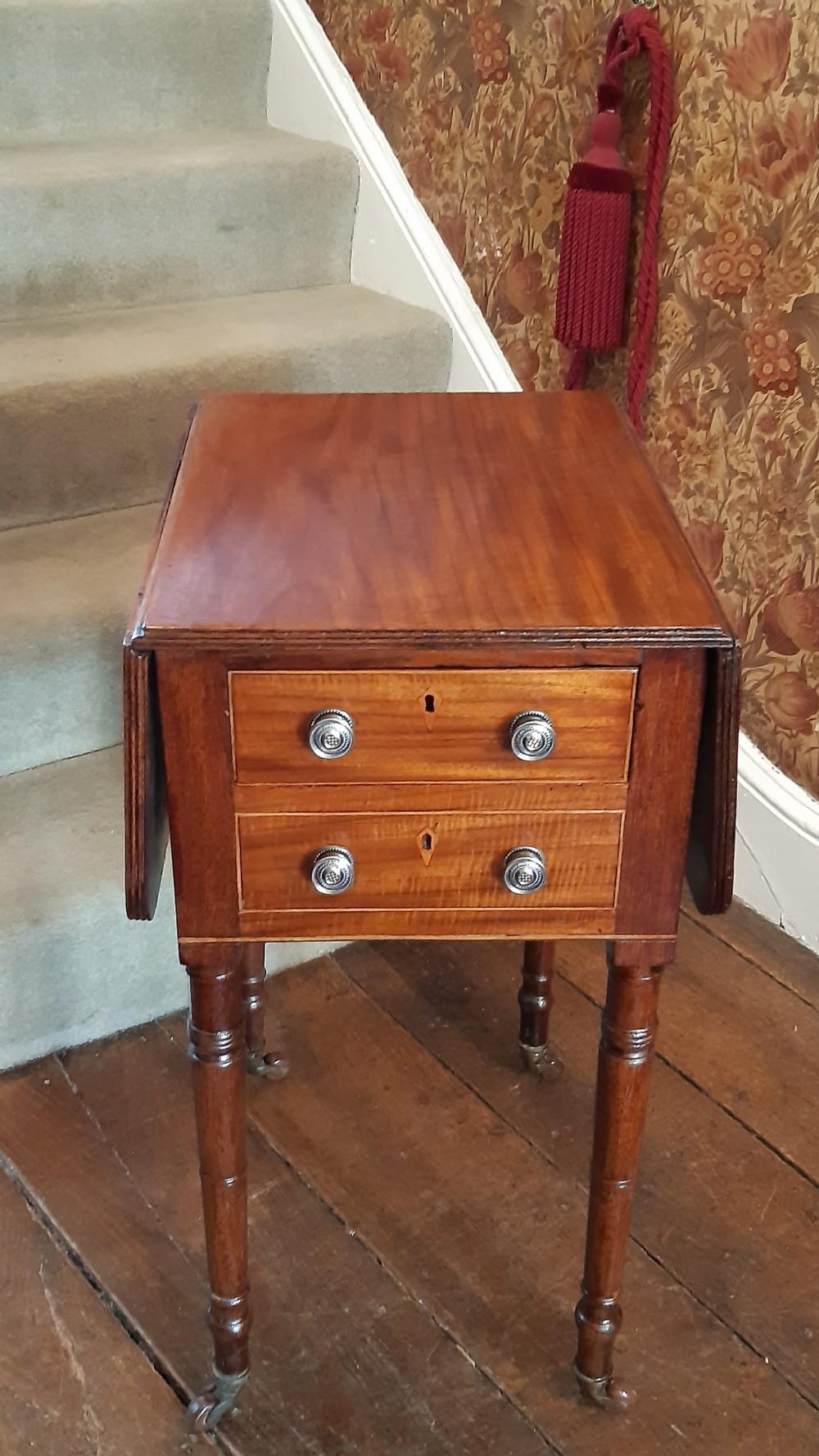 small regency mahogany pembroke table