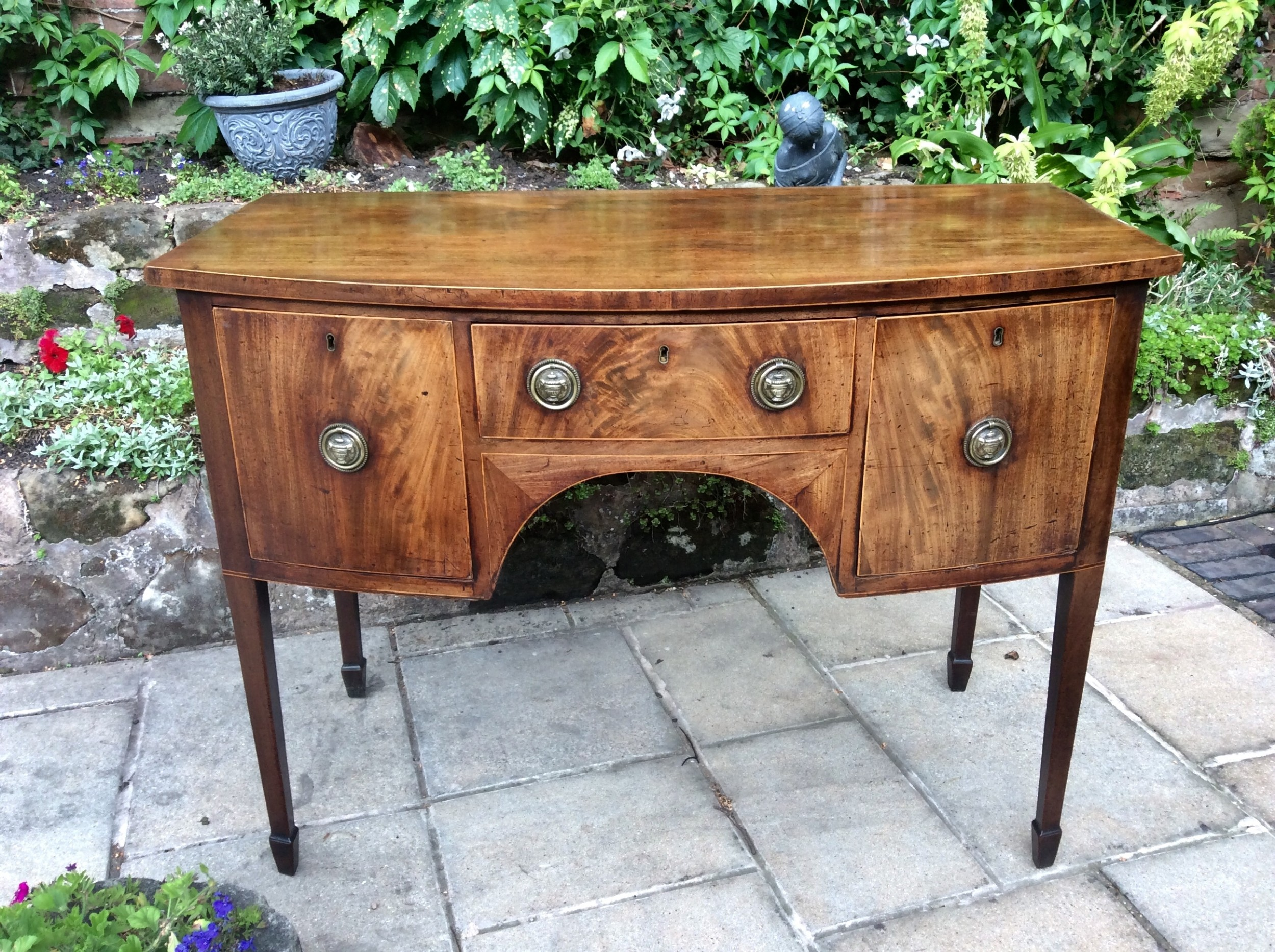 super small georgian bow front sideboard