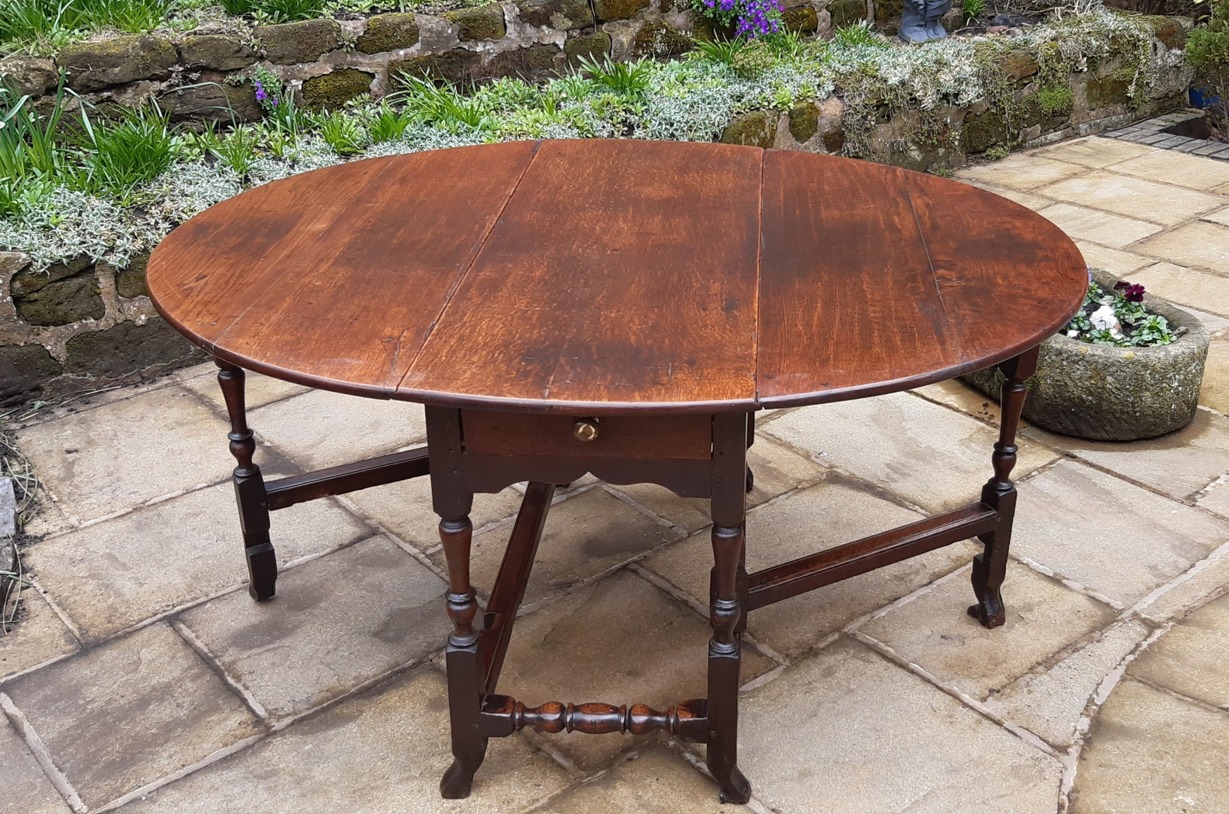 super late 17th c oak dining table