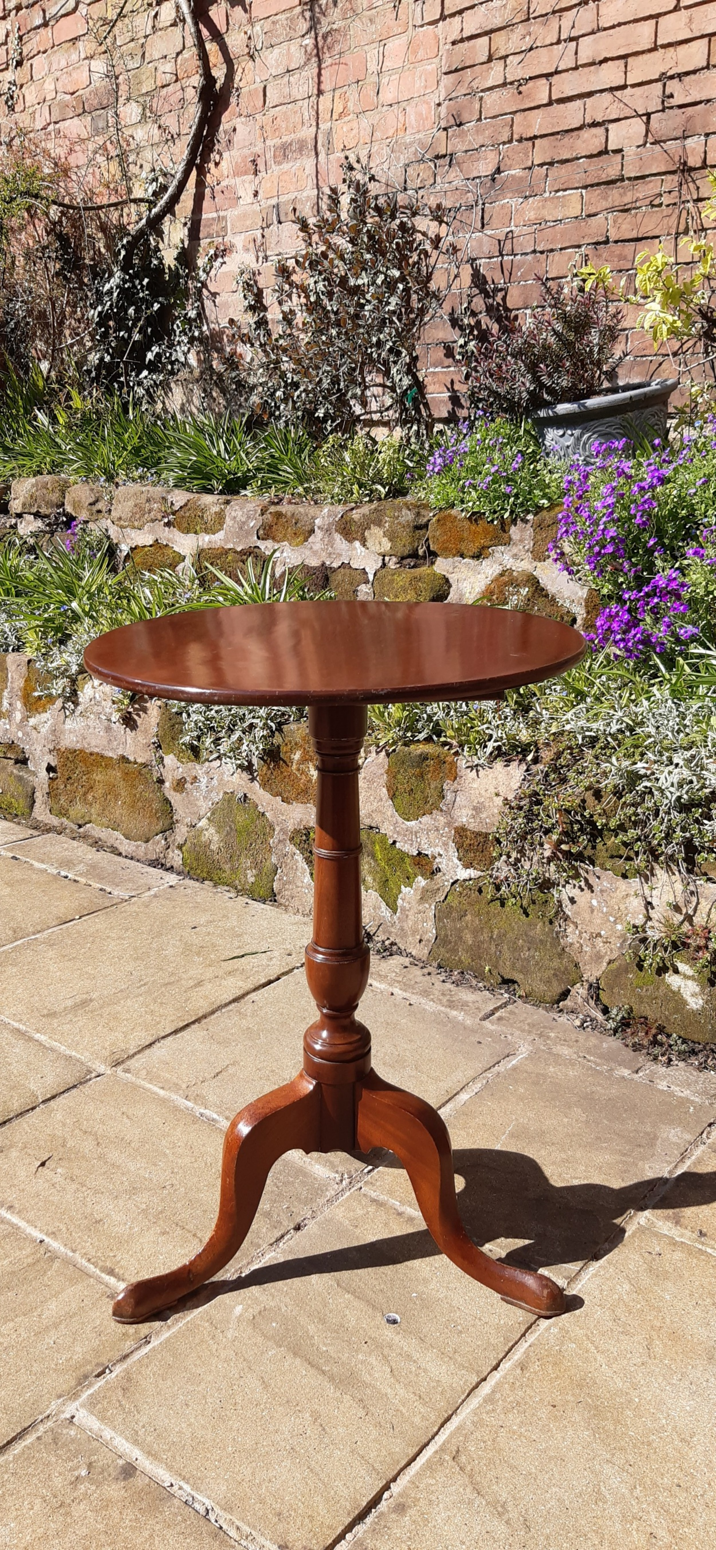 super small georgian mahogany tripod table