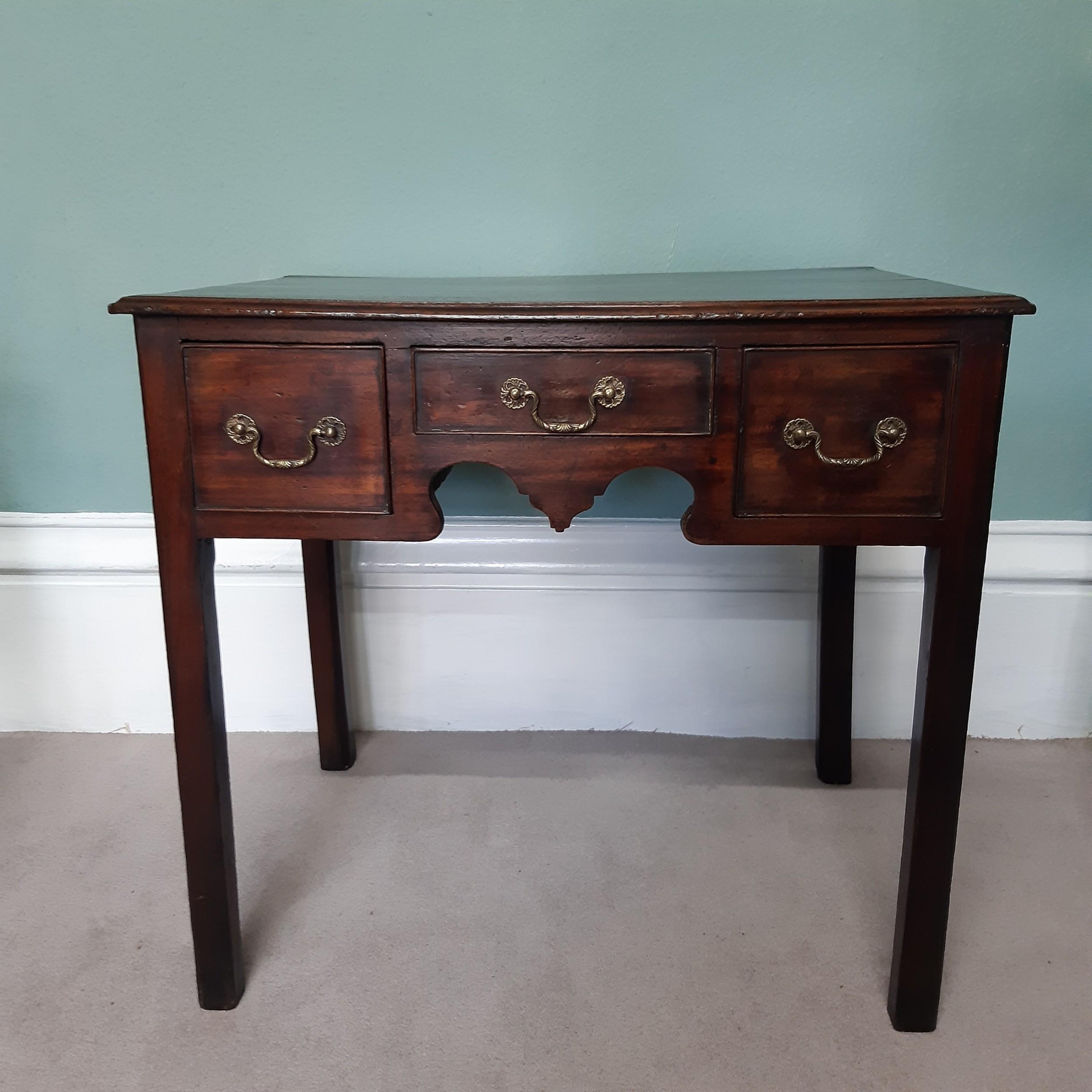 georgian mahogany lowboy side table