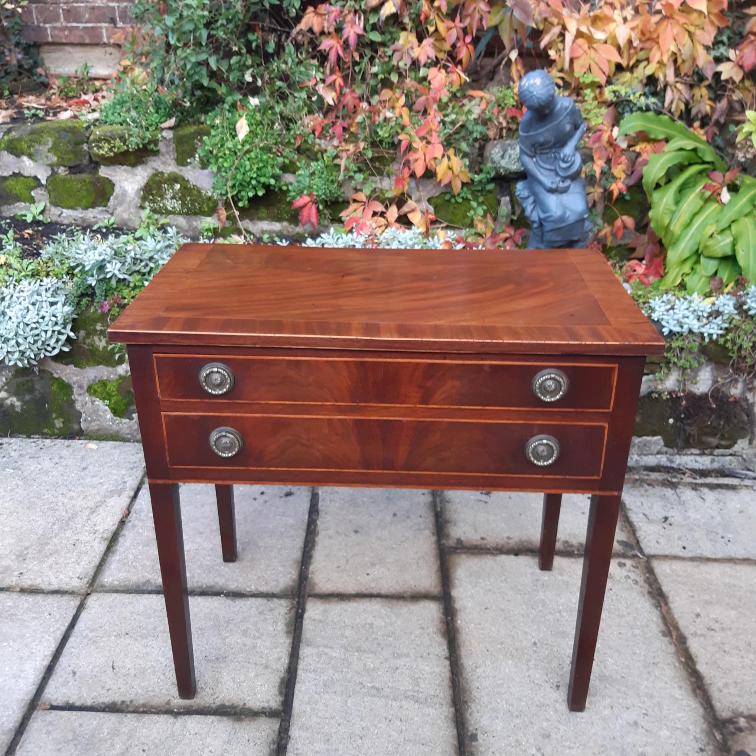 georgian mahogany side table lowboy