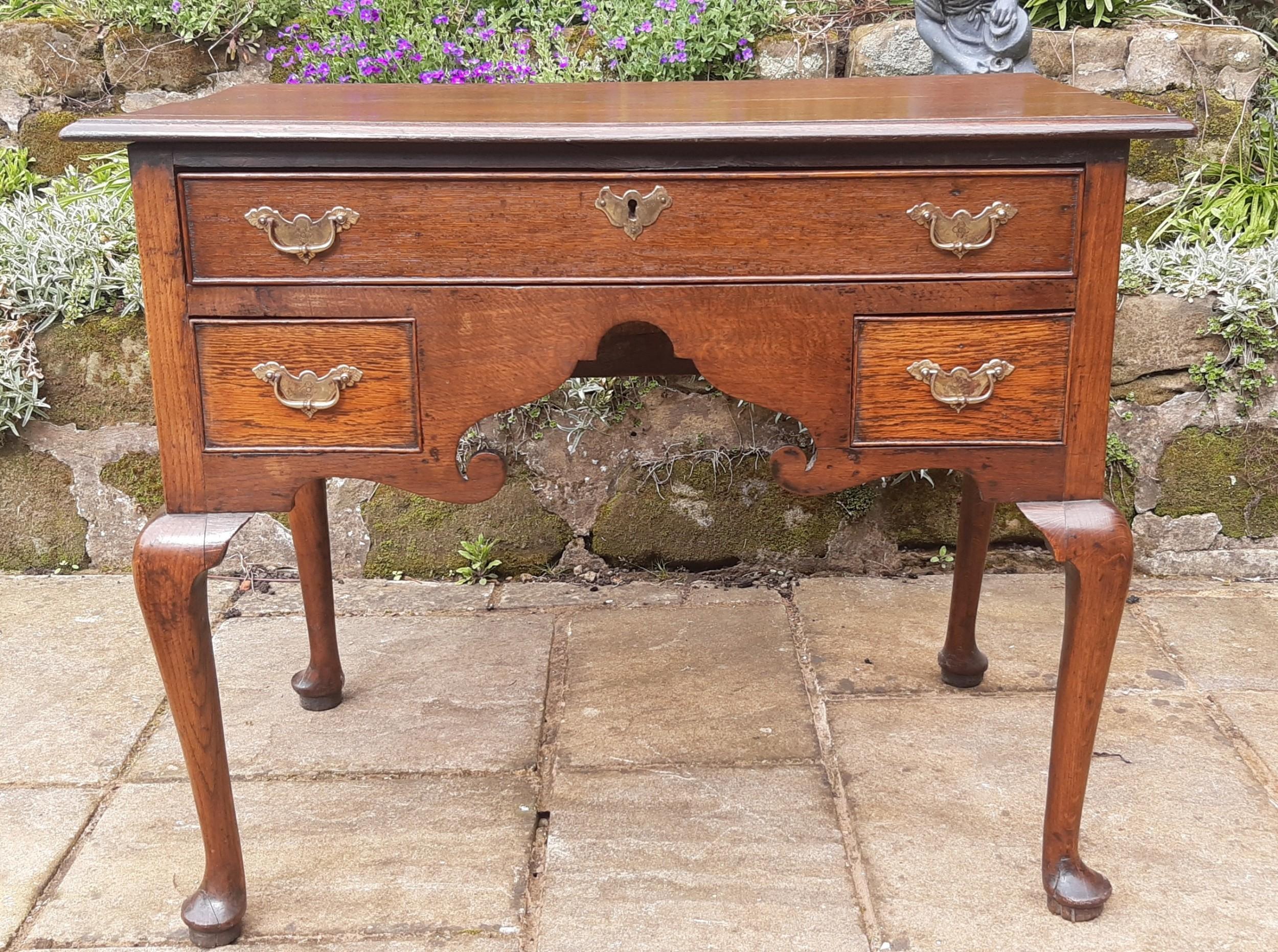 georgian 18th century oak lowboy side table