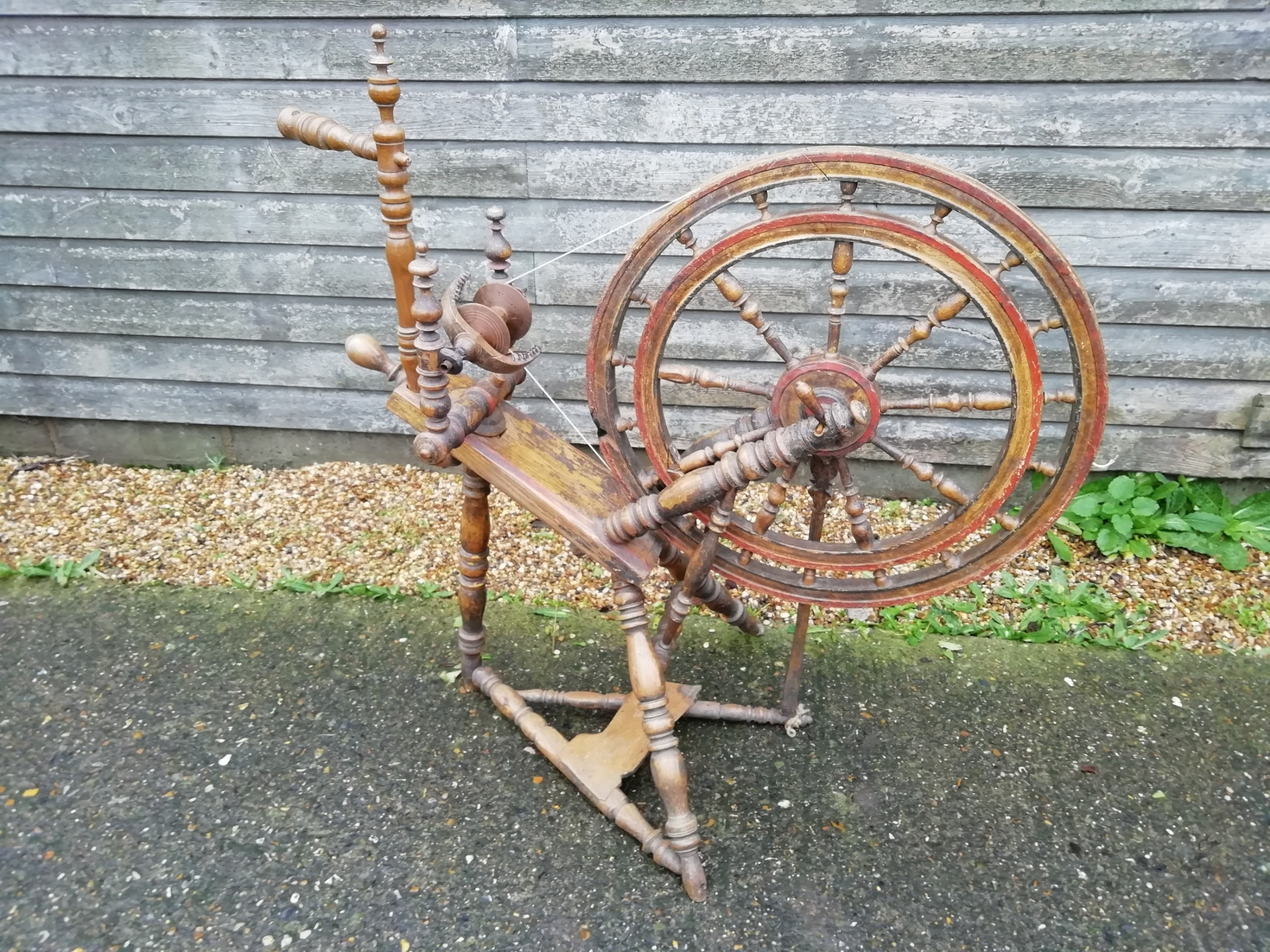 19th century spinning wheel