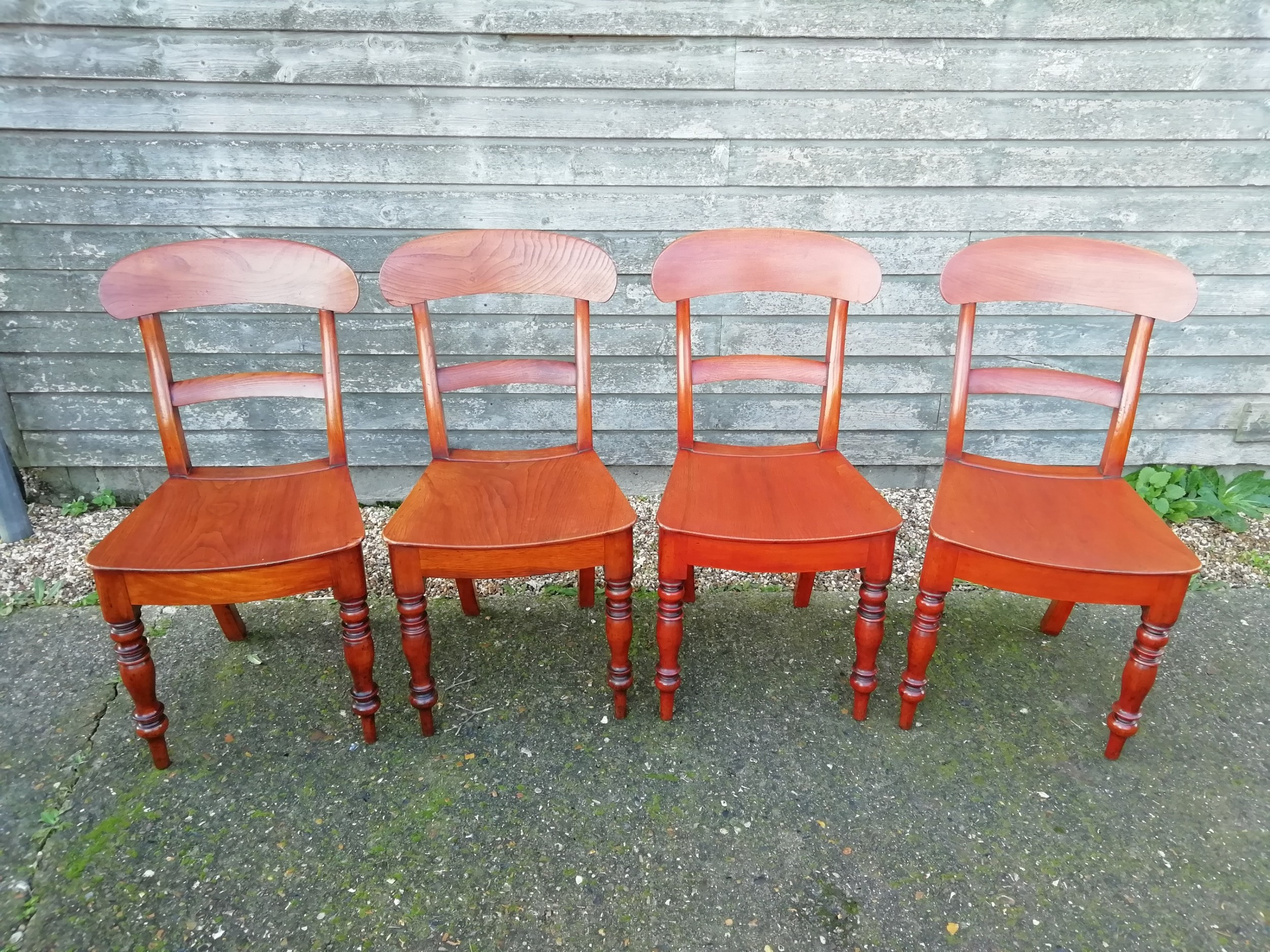 set of four elm country chairs 18601890