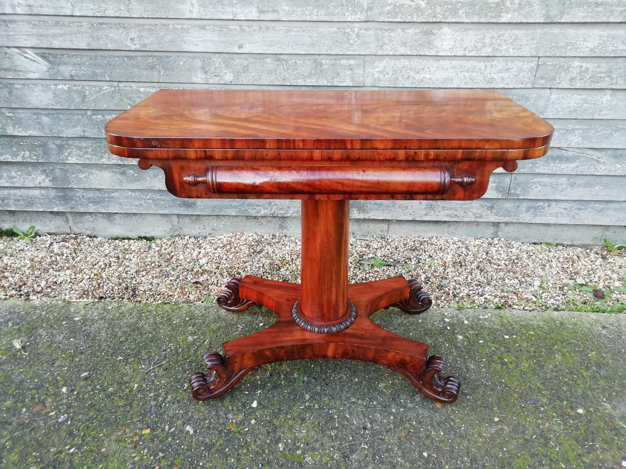 mahogany card table victorian