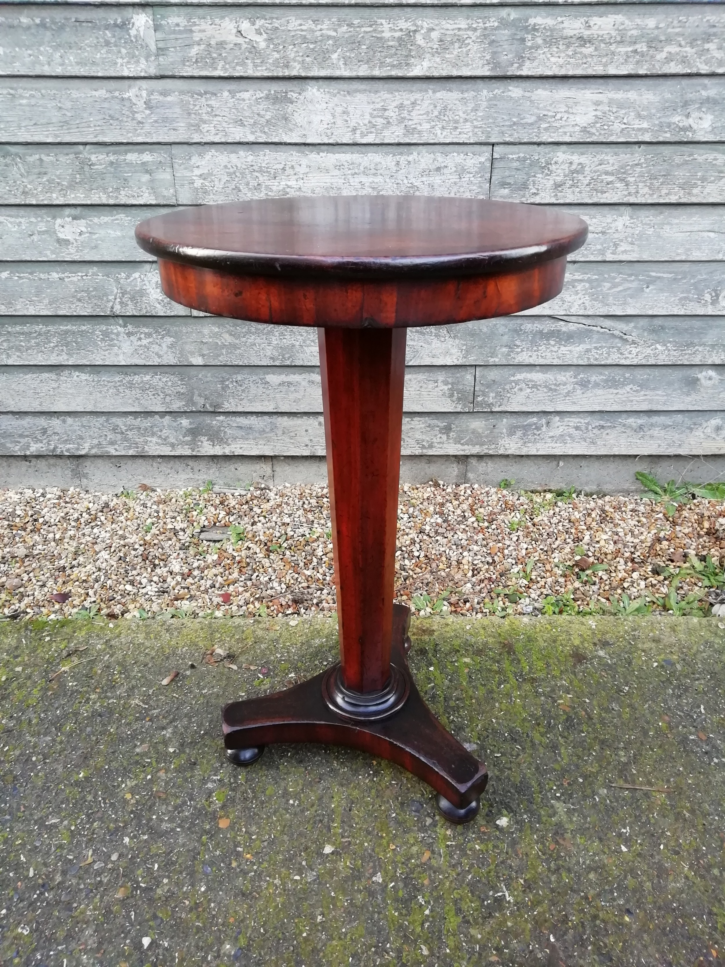 mahogany occasional wine table