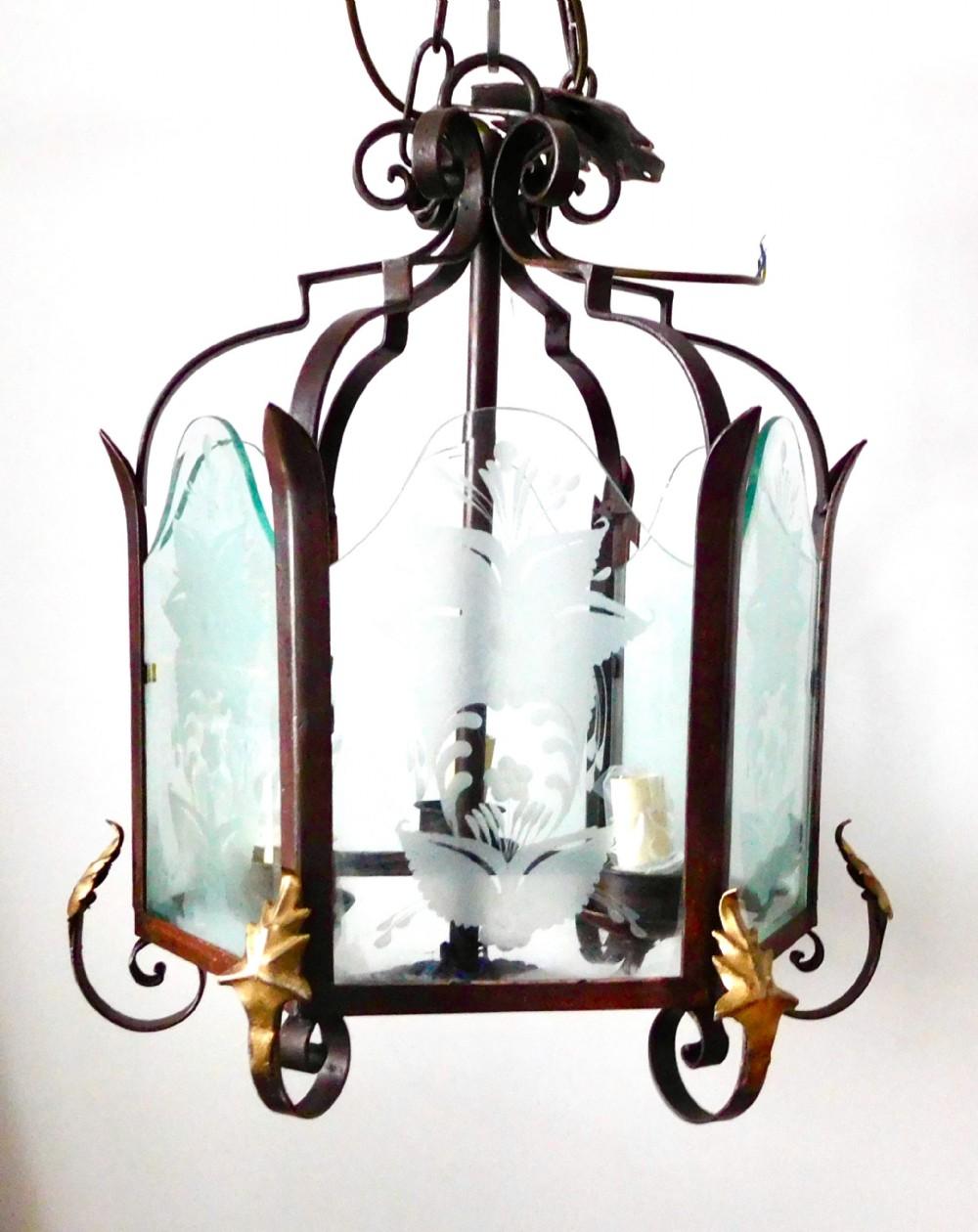 large victorian cast iron light